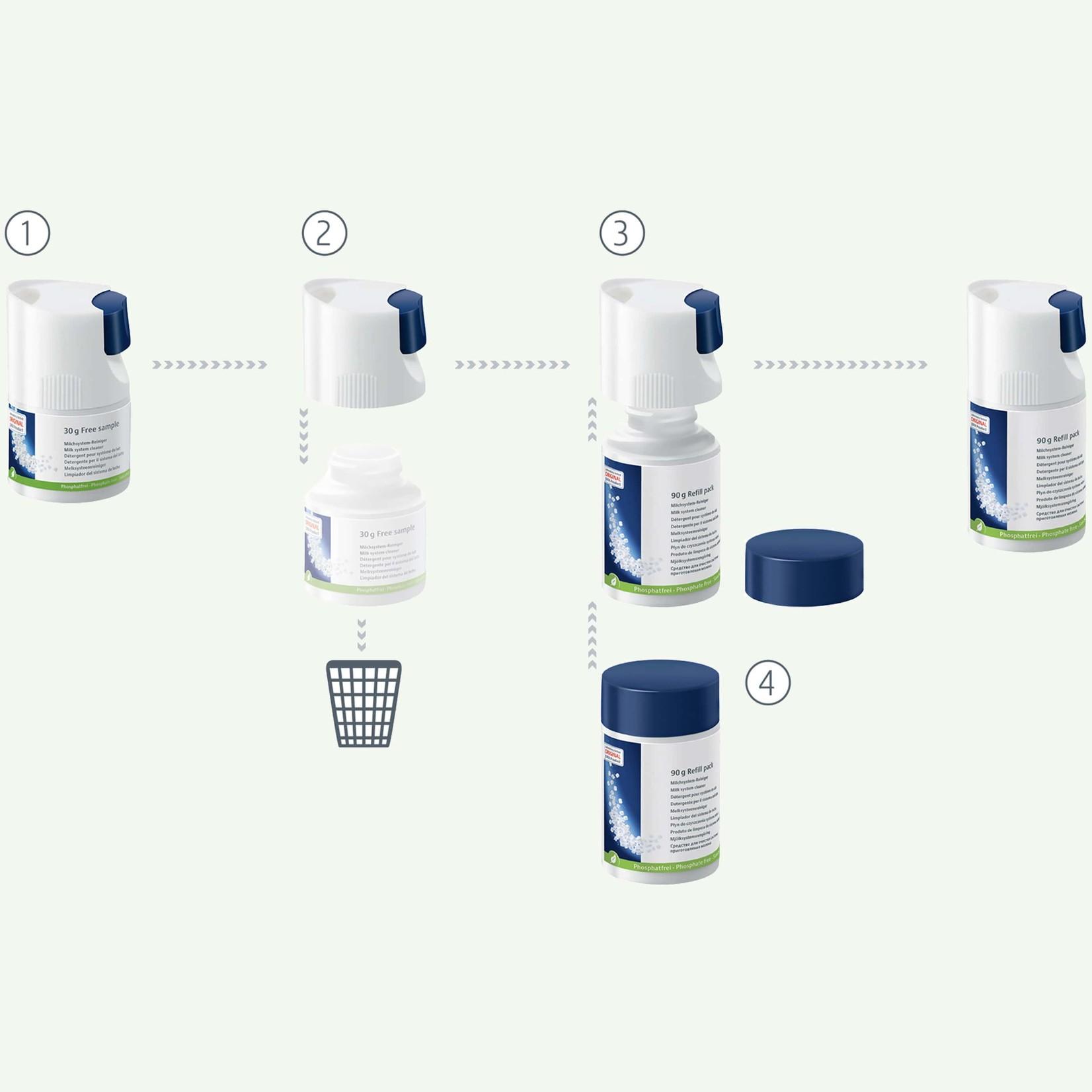 Jura Melksysteemreiniger (mini-tabletten) 90 g navulflesje