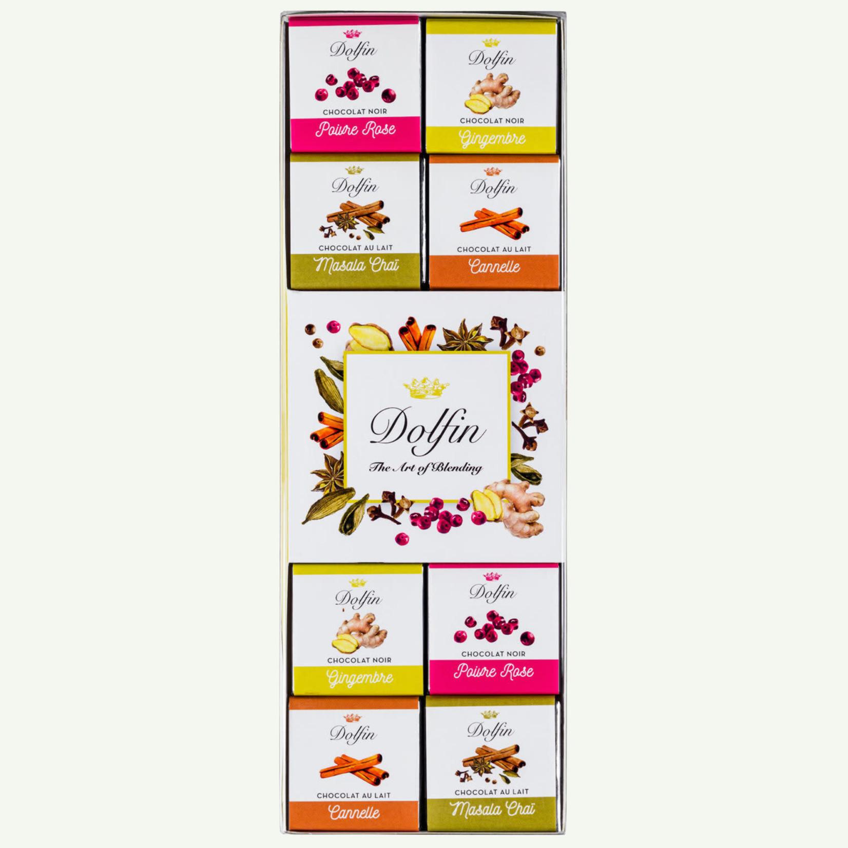 Dolfin Dolfin 'Assortiment van 24 chocolade tabletjes'