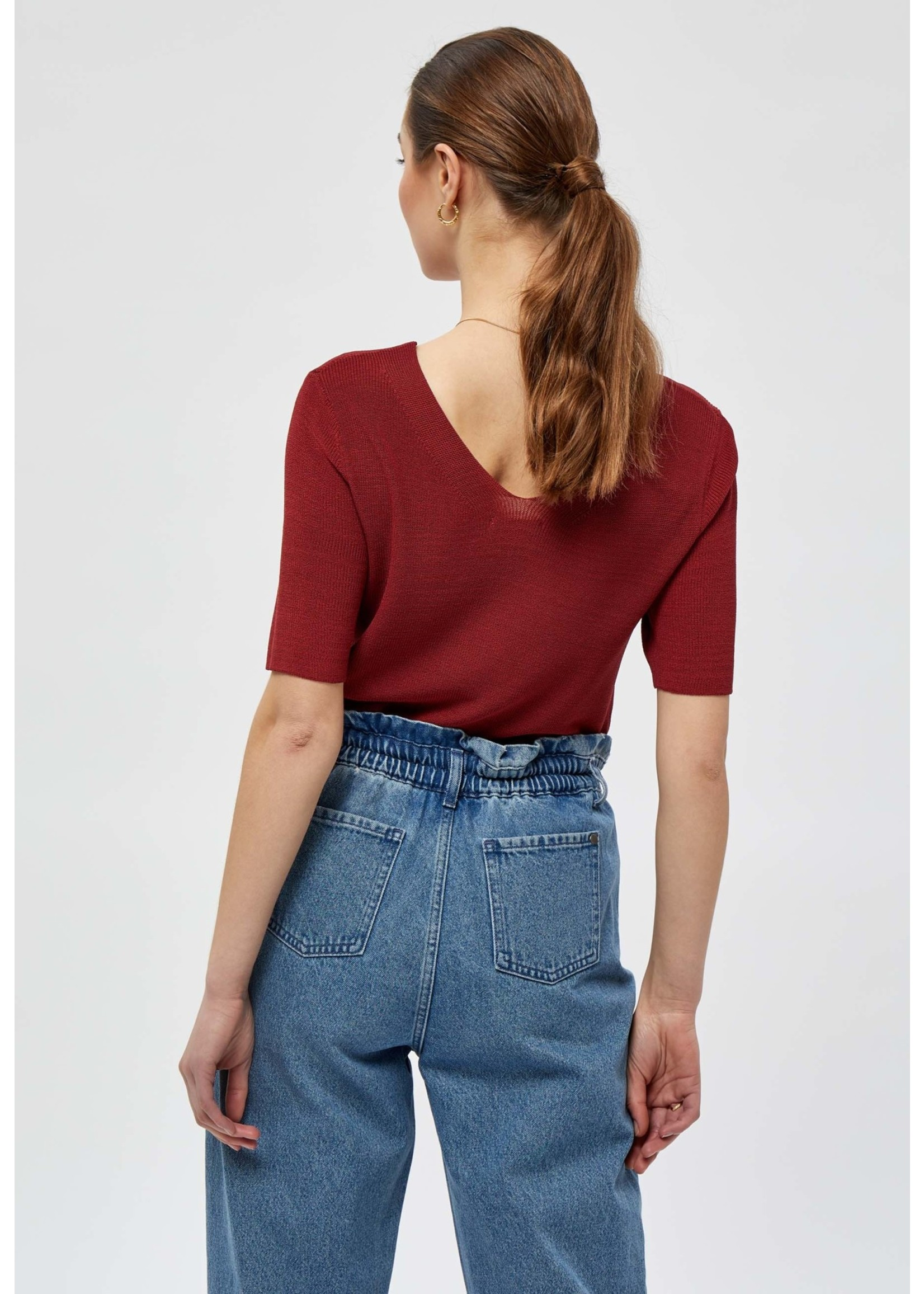 MINUS Bex knit tee Berry red
