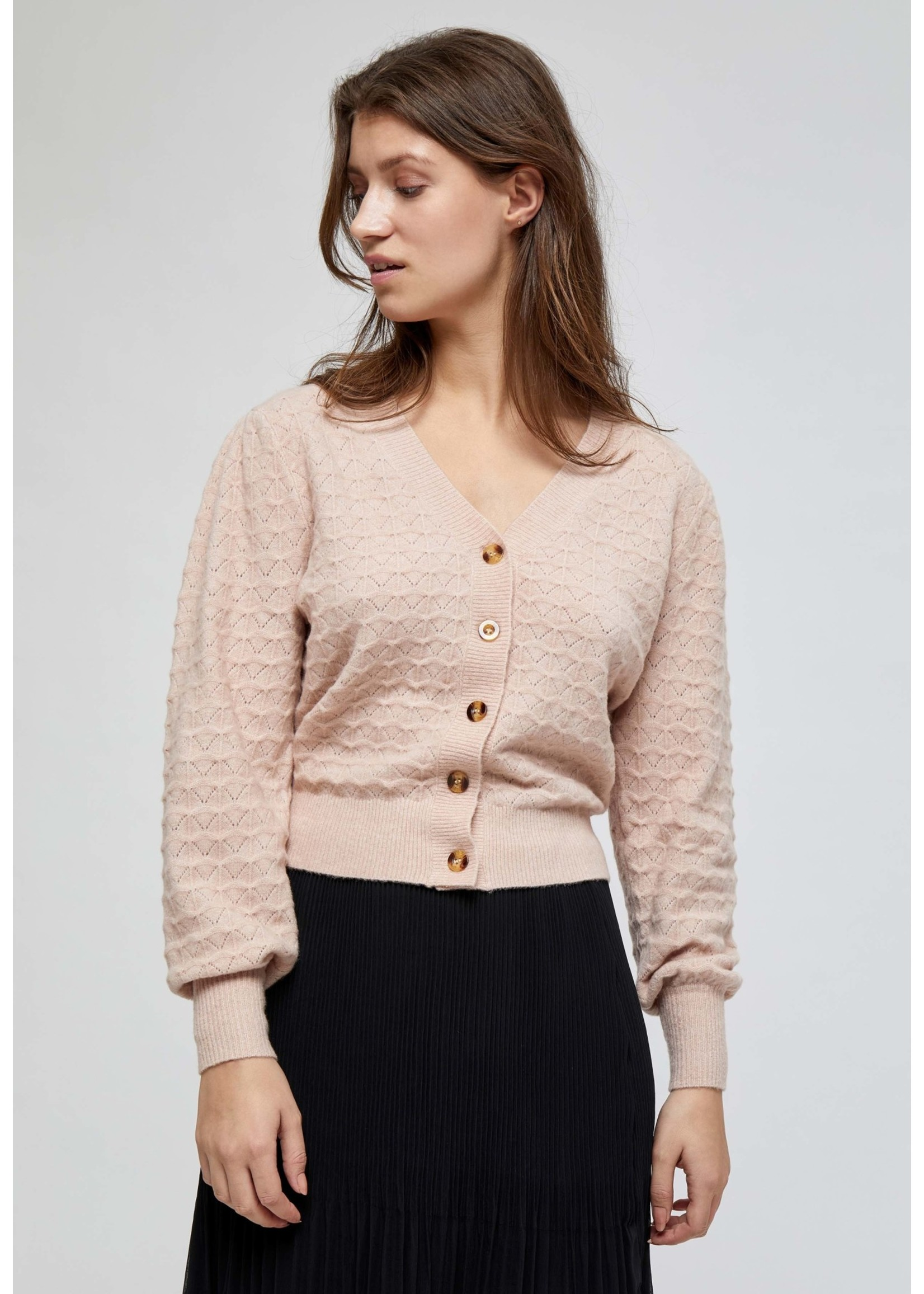 MINUS Diana knit cardigan Lavender Frost