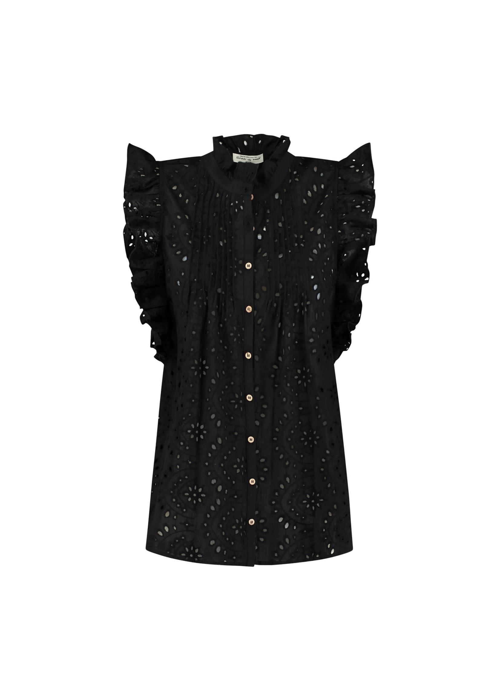 CIRCLE OF TRUST katie blouse zwart