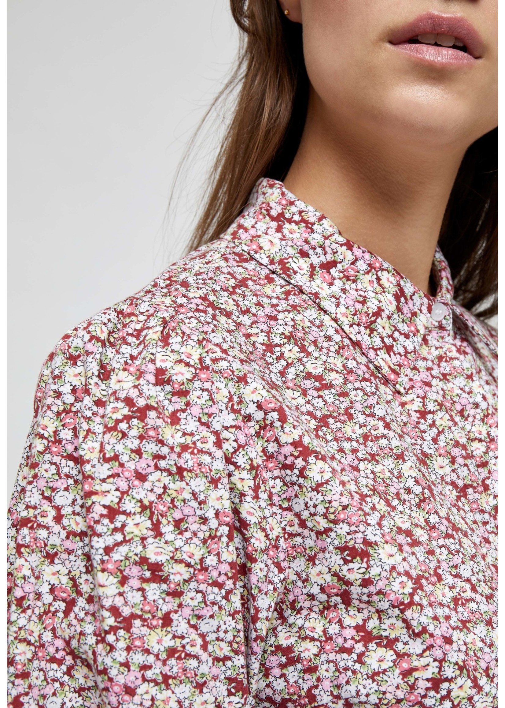 MINUS Rasmina shirt Pink flower print