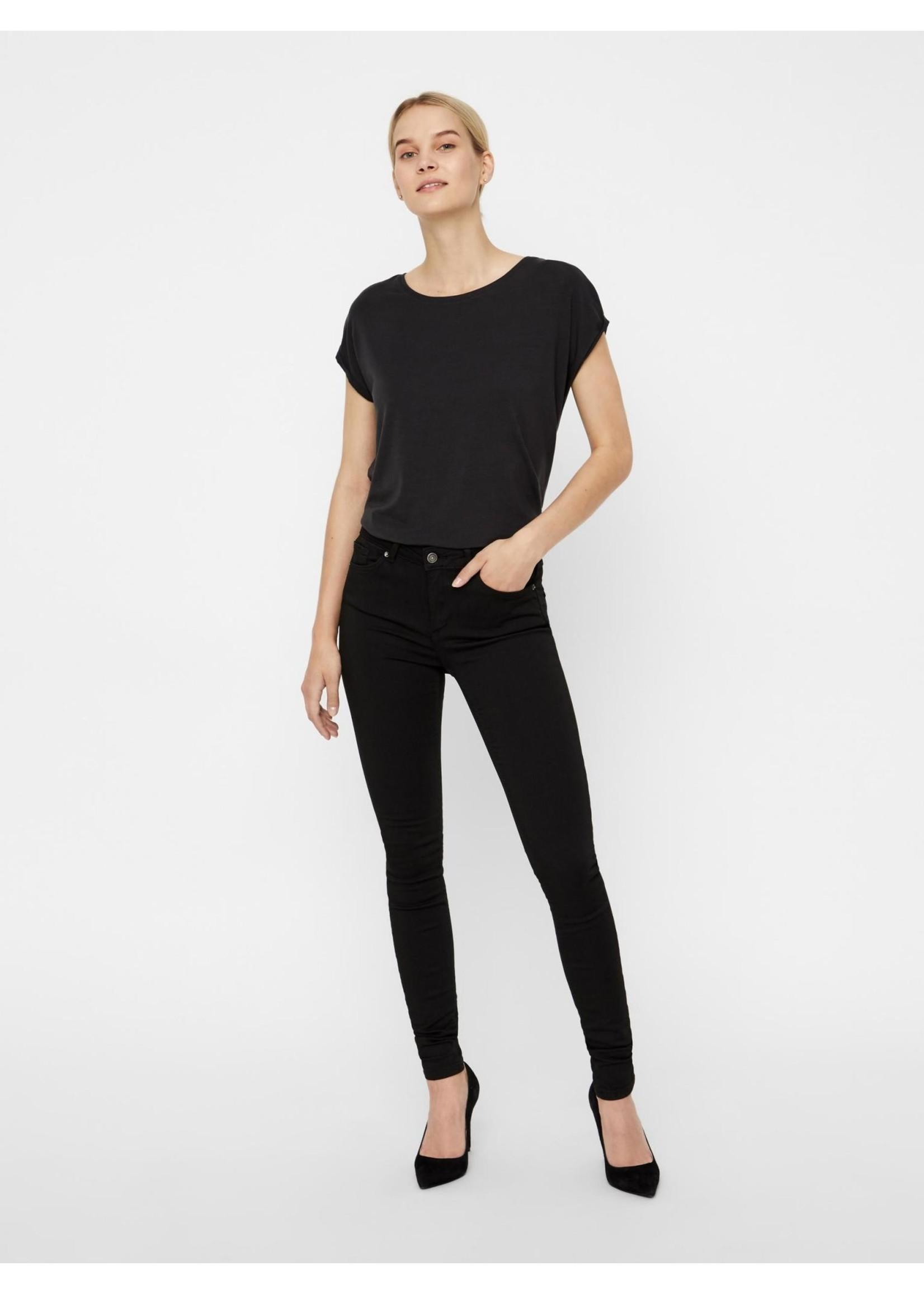 VERO MODA Lux NW super s Jeans Black