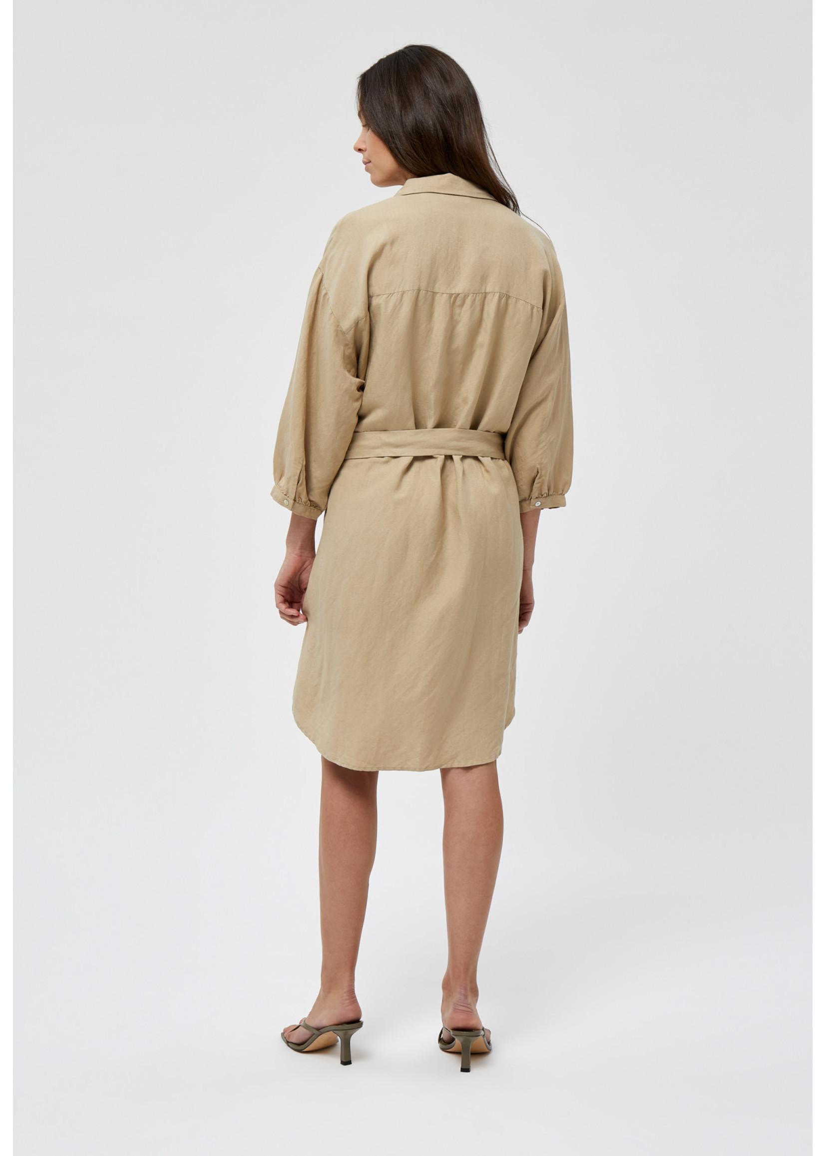 MINUS Makira linen dress Nomad sand