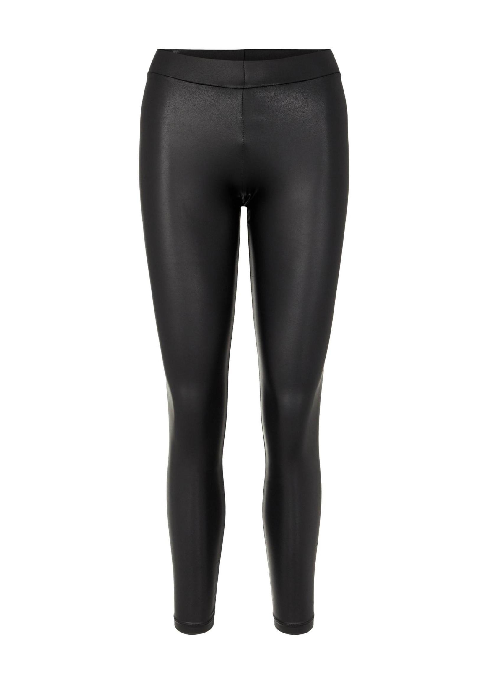 PIECES New shiny legging, zwart