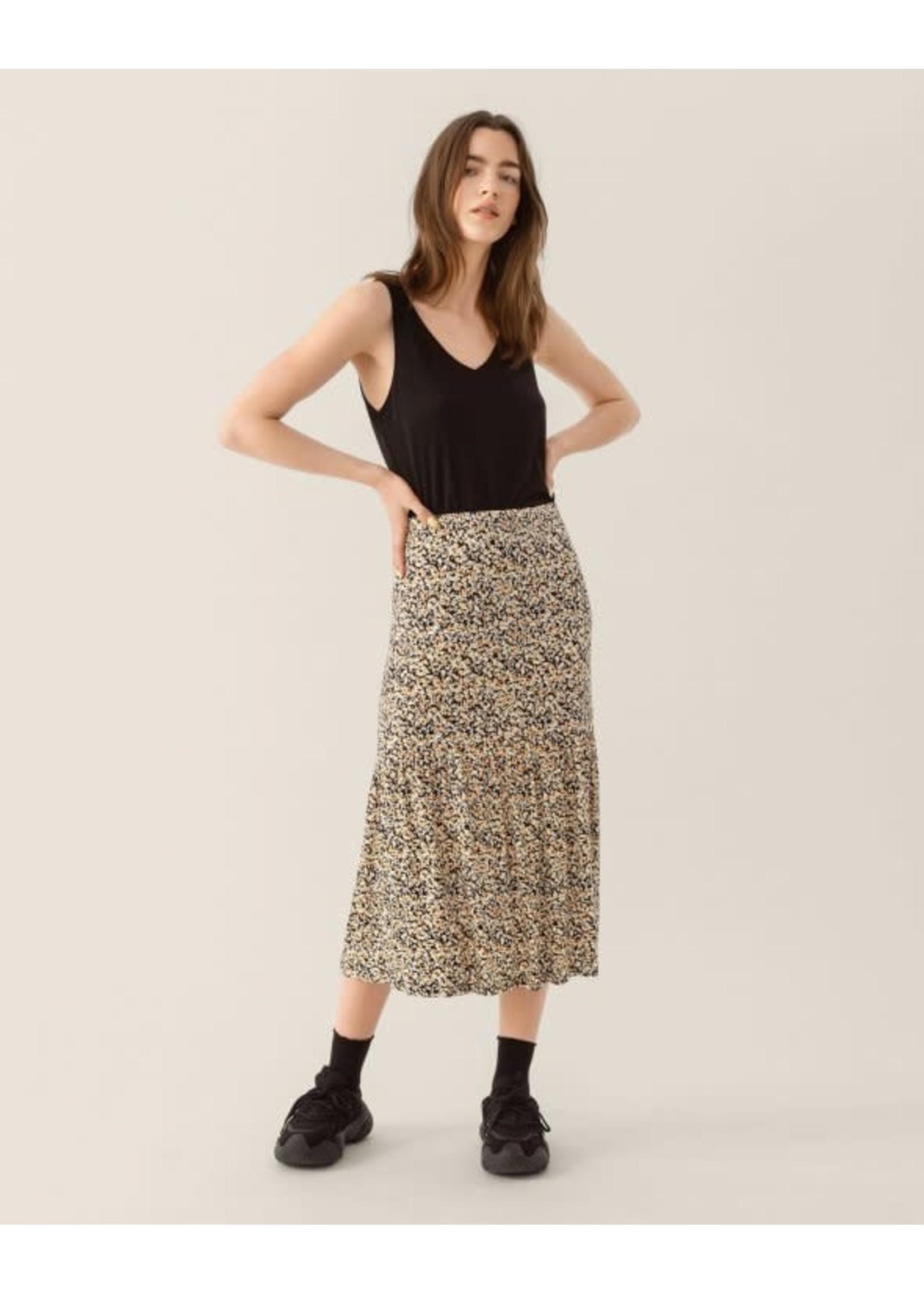MSCH MABEA skirt AOP black flower