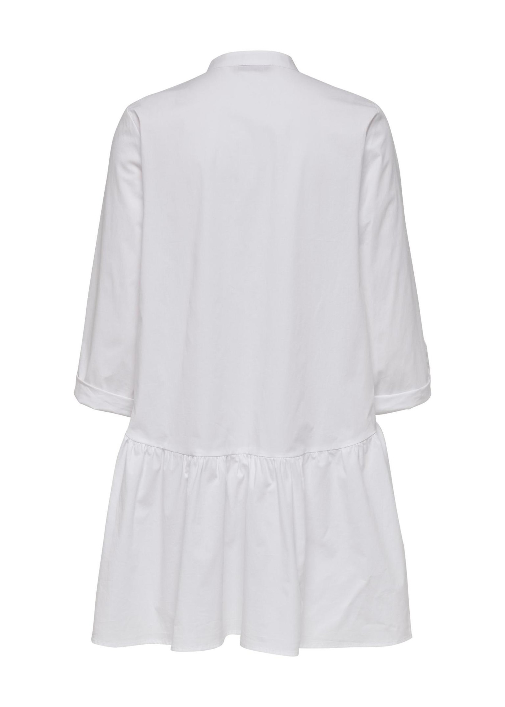 ONLY Ditte life 3/4 dress, wit
