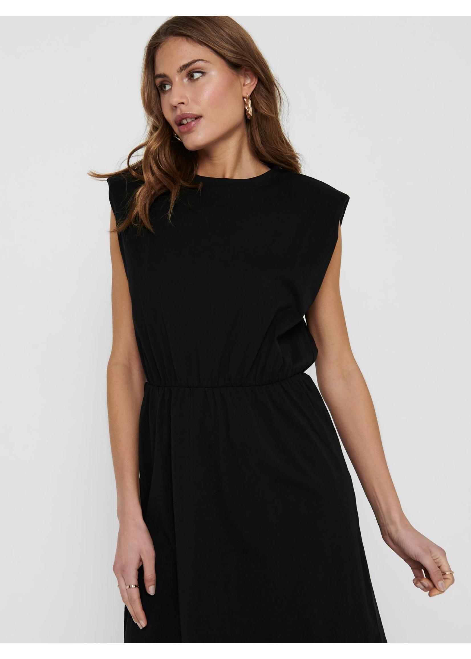 ONLY JEN LIFE S/L SHOULDER DRESS JRS Black