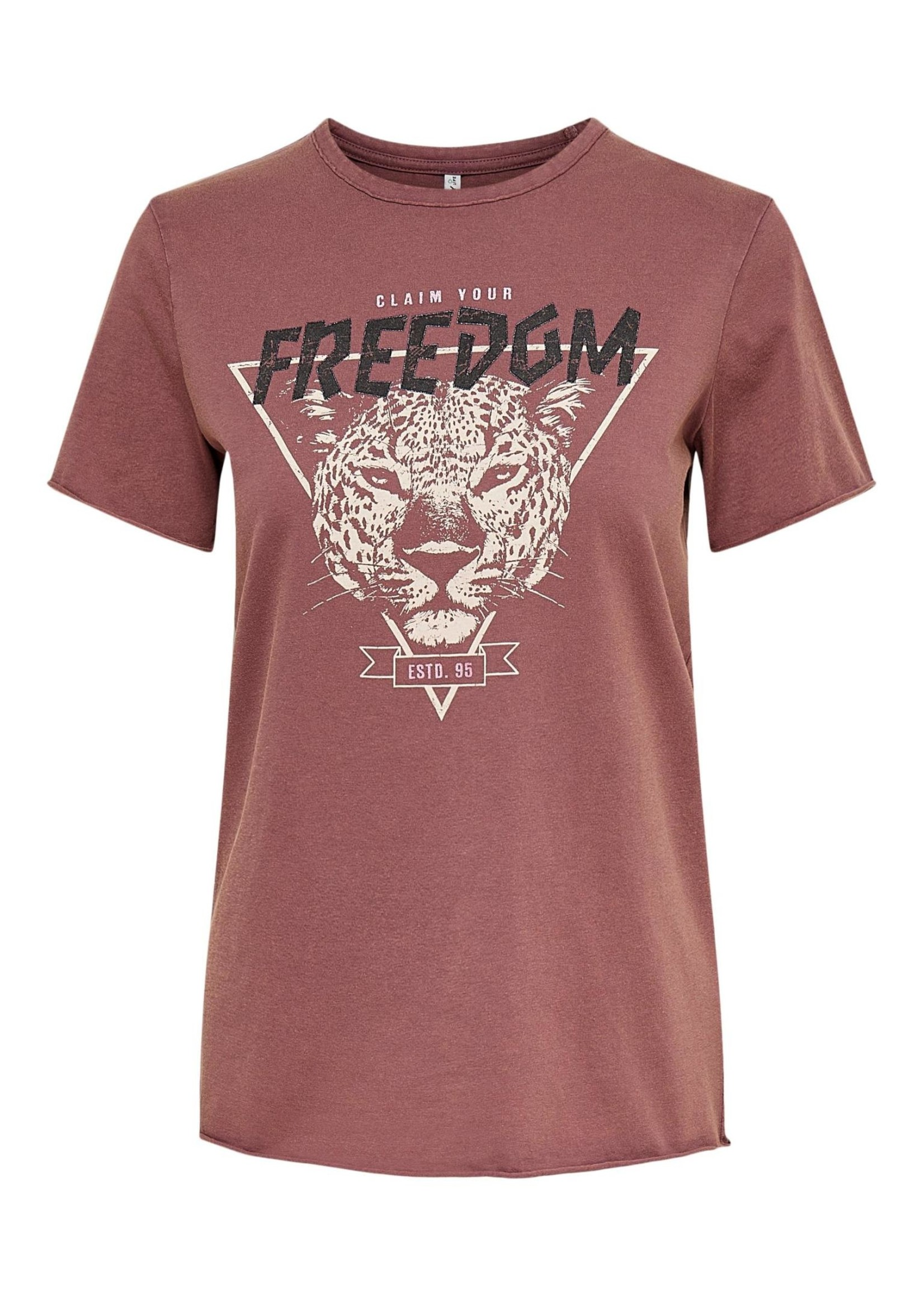 ONLY LUCY LIFE REG S/S ELECTRIC TOP JRS rose brown freedom