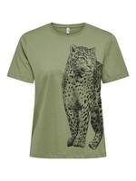 ONLY CATS LIFE REG S/S TOP BOX CS JRS deep lichen green