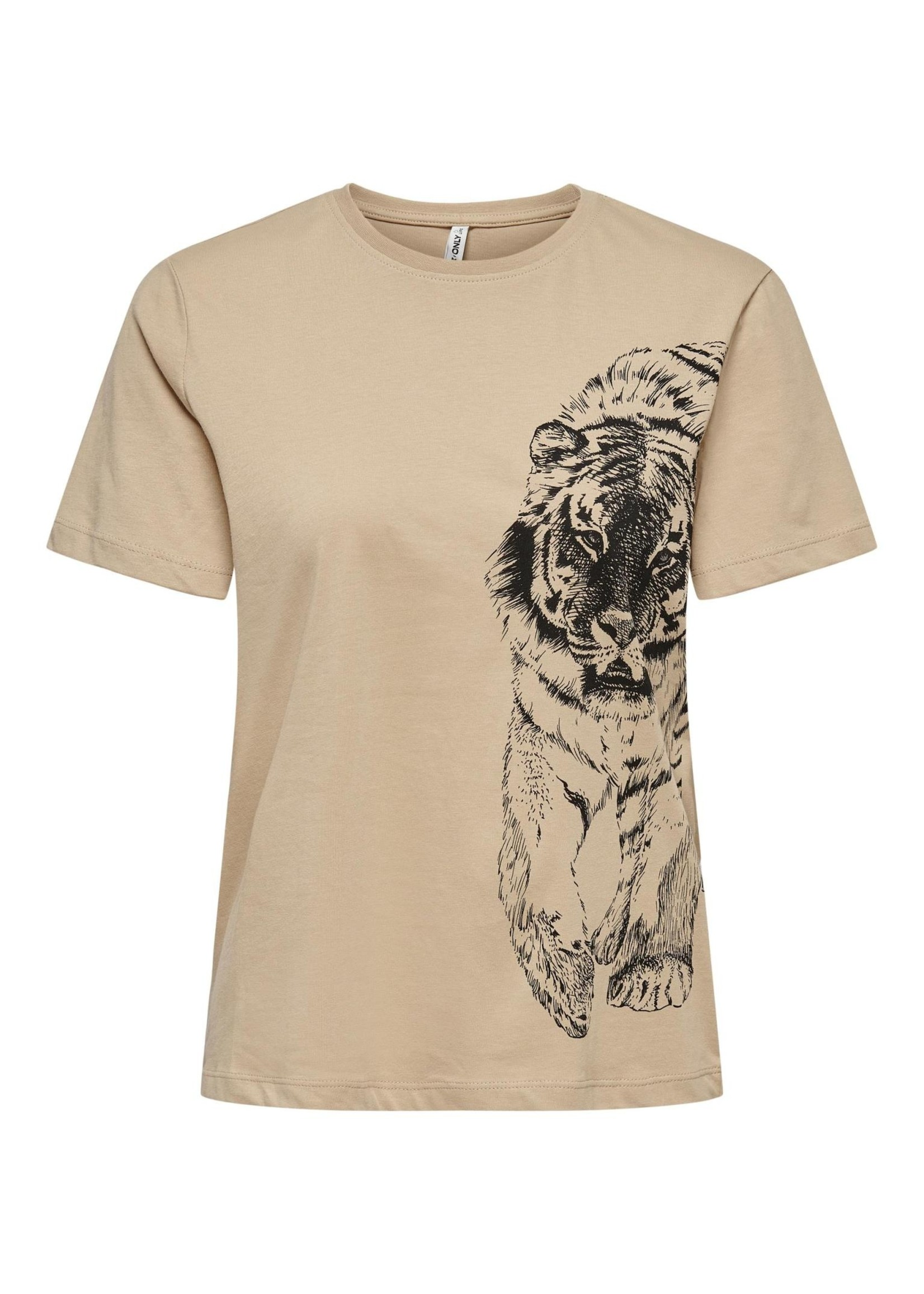 ONLY CATS LIFE REG S/S TOP BOX CS JRS humus tiger