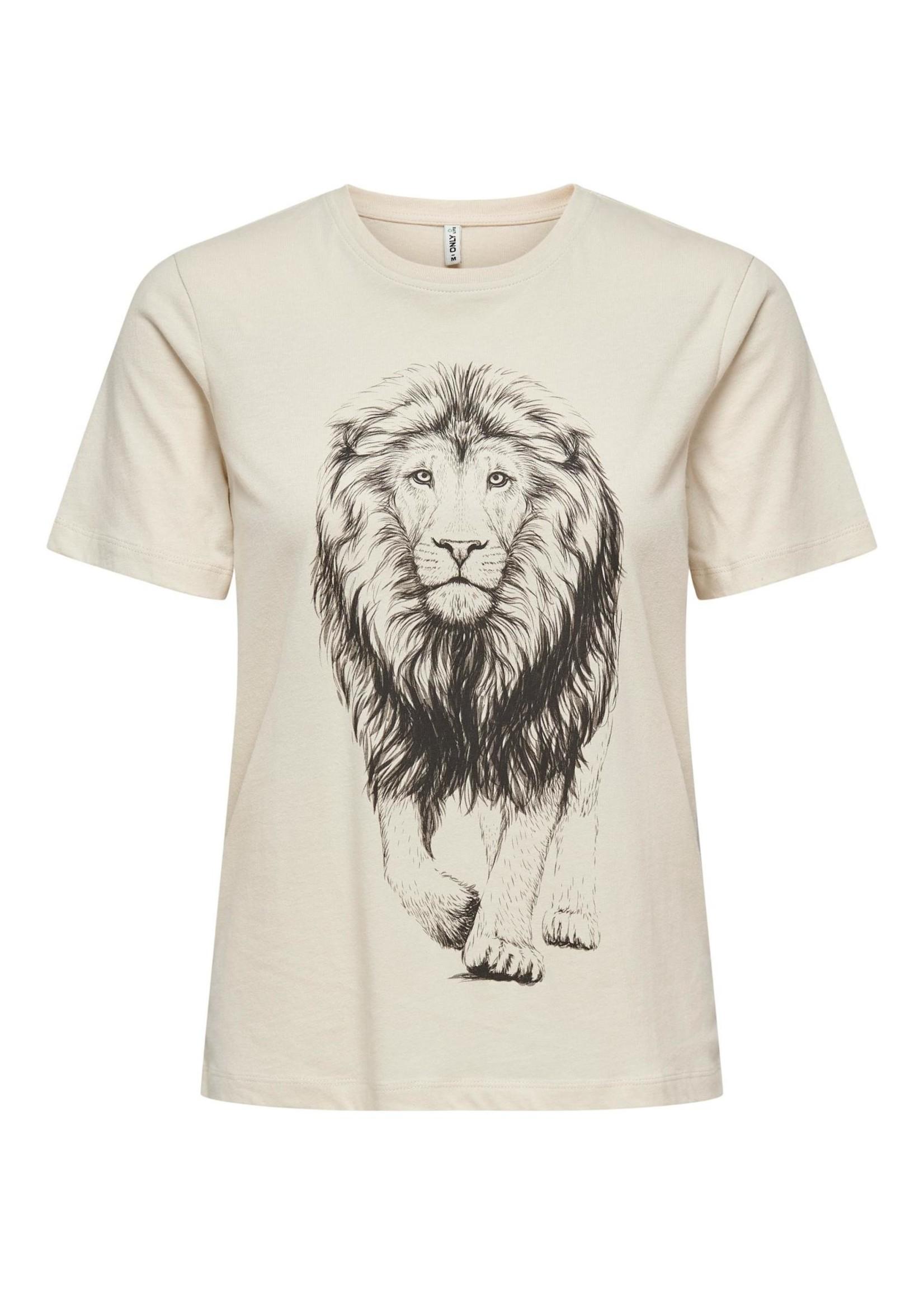 ONLY CATS LIFE REG S/S TOP BOX CS JRS brich lion