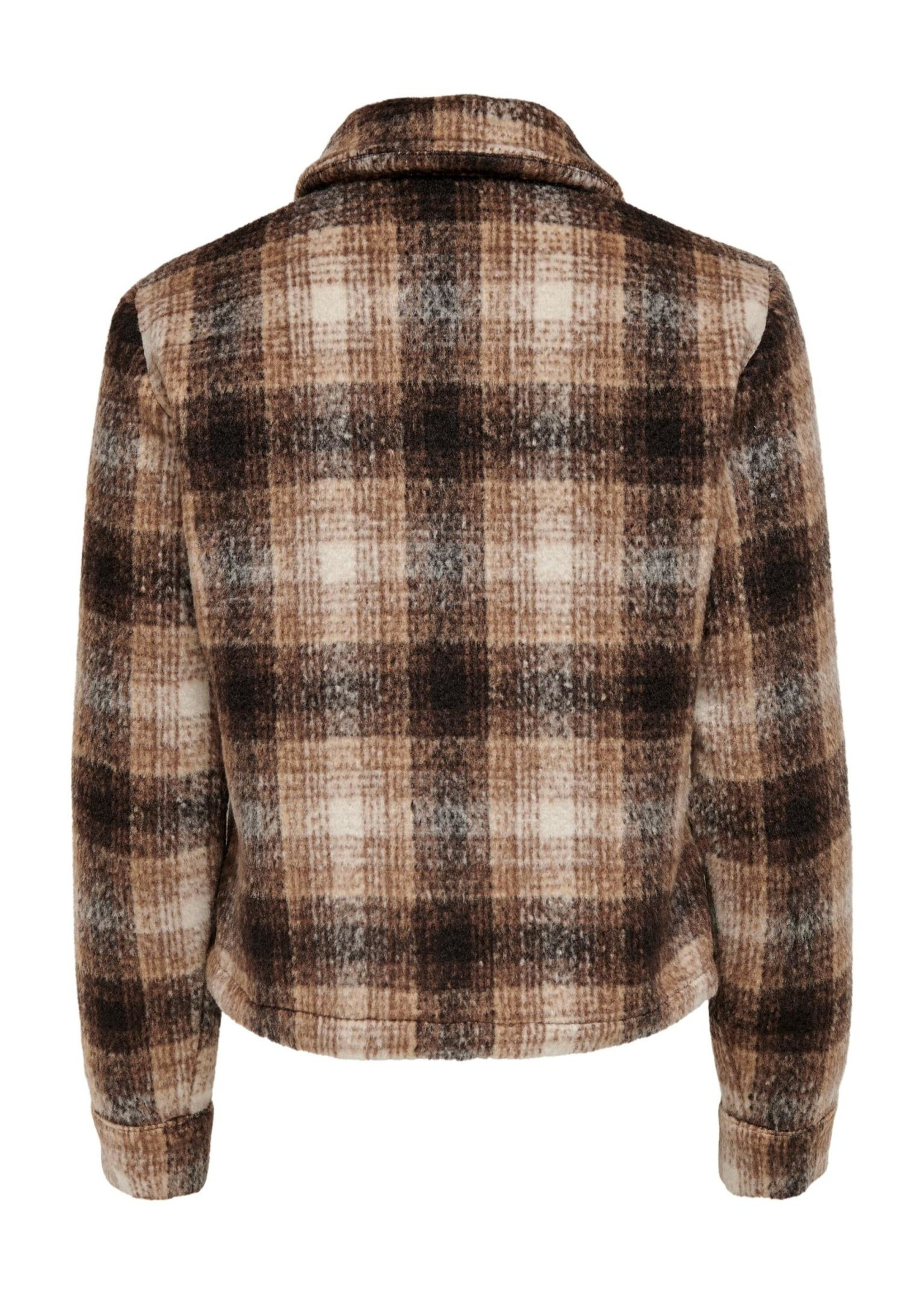ONLY LOU SHORT CHECK JACKET OTW NOOS pumice stone