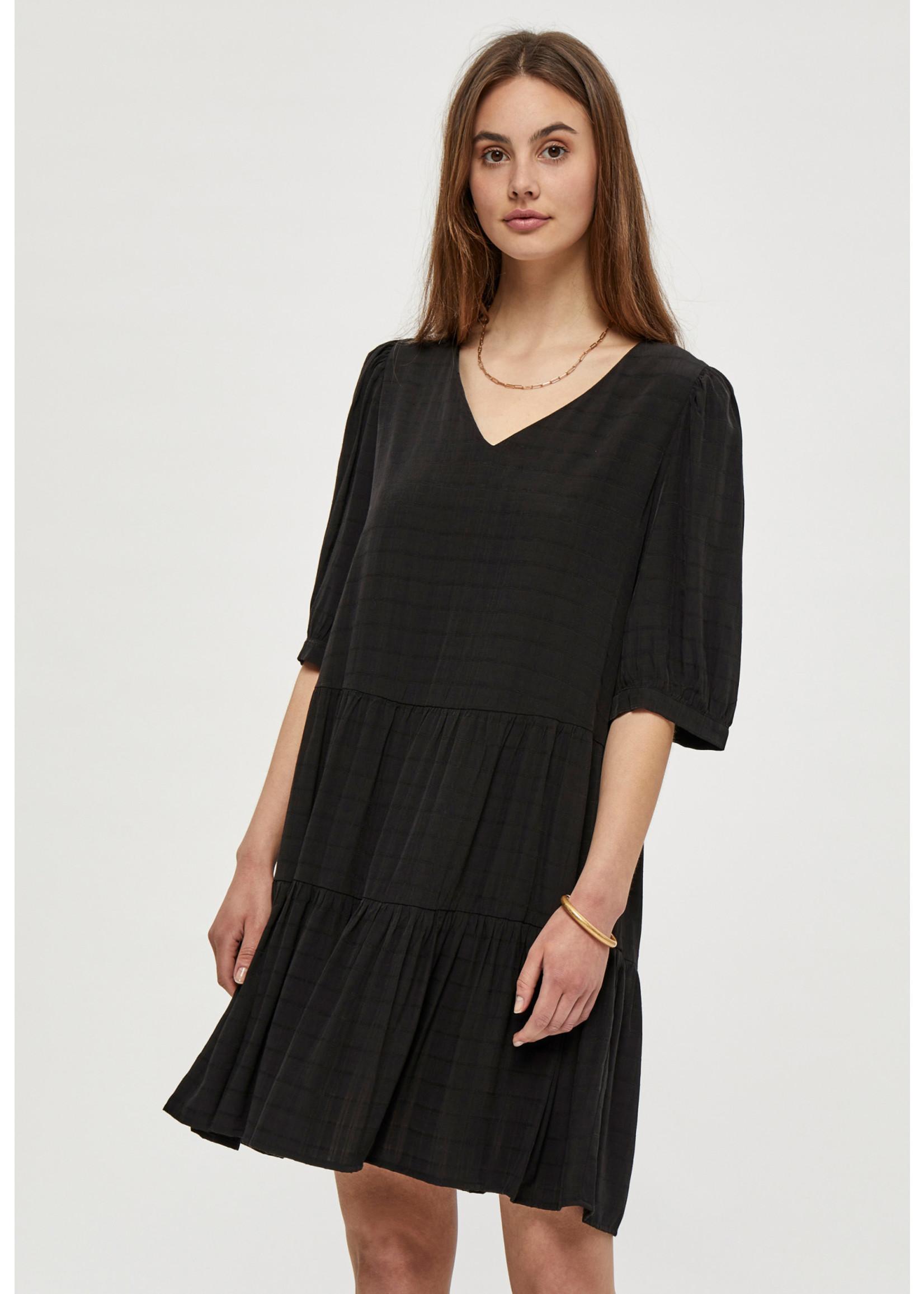 PEPPERCORN MARY LONG SLEEVE DRESS,black