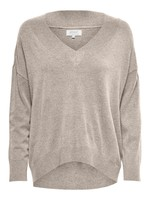 ONLY COZY L/S V-NECK PULLOVER KNT pumice stone