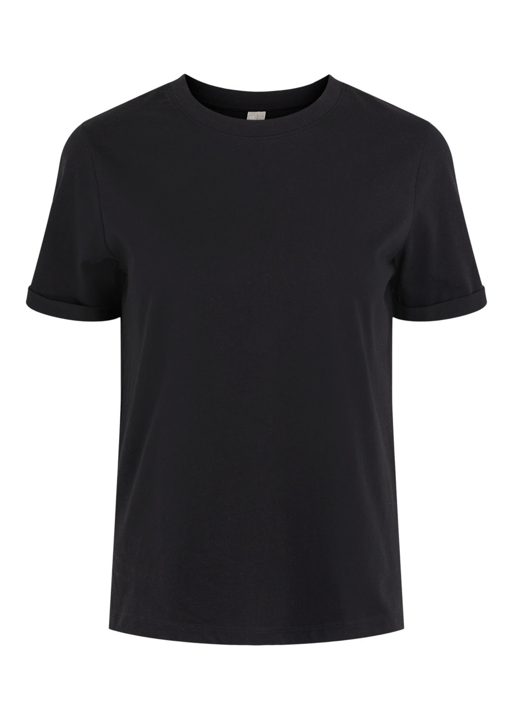 PIECES RIA SS FOLD UP TEE,black