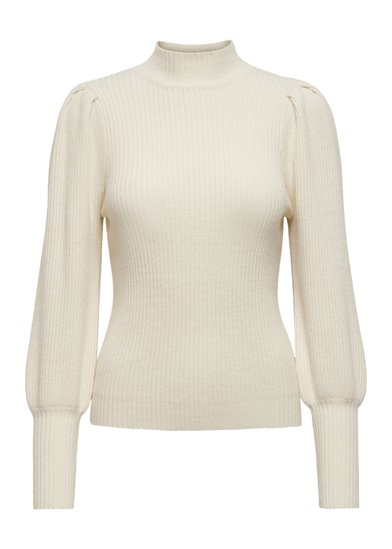 ONLY KATIA L/S HIGHNECK PULLOVER CC KNT whitecape gray