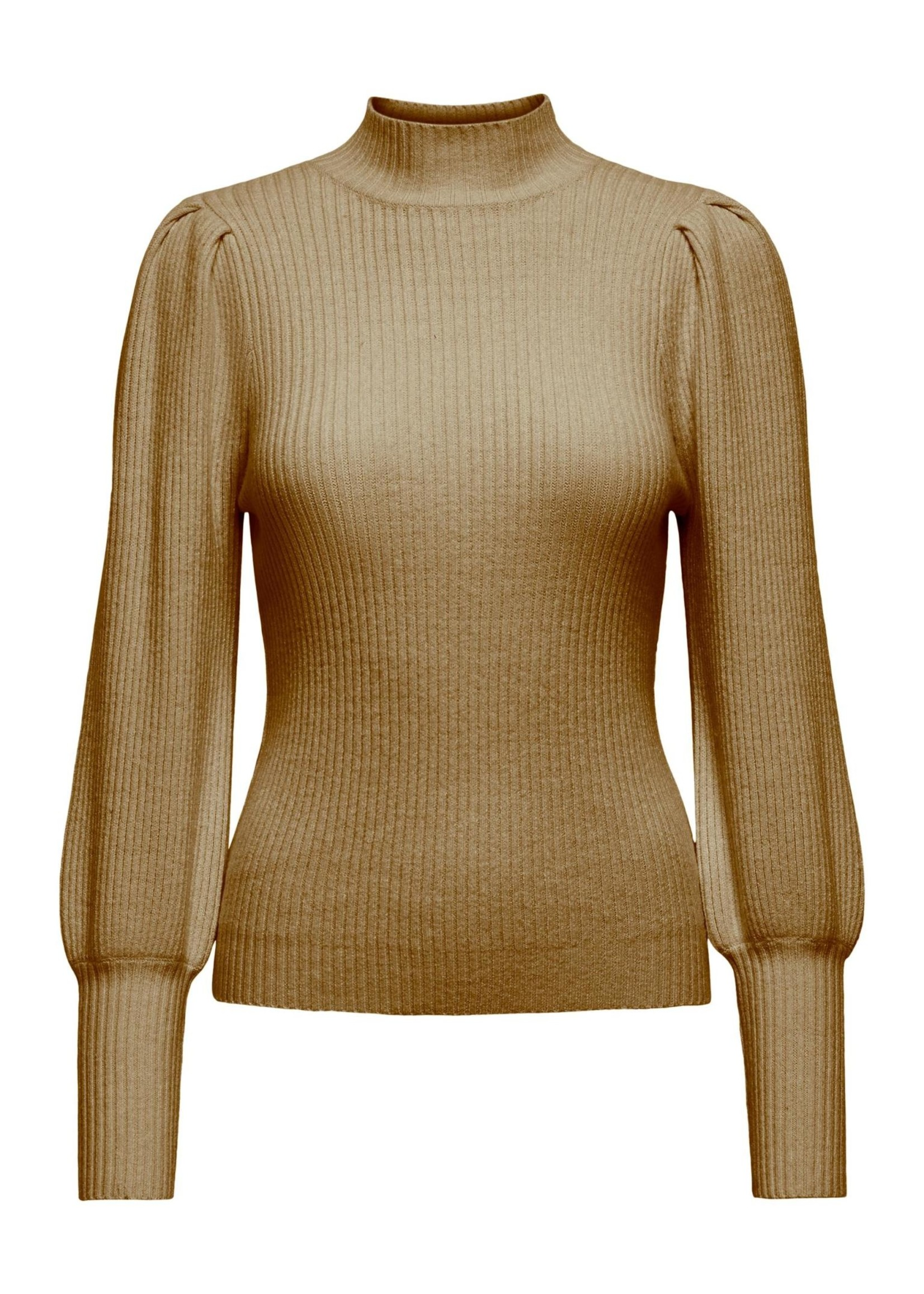 ONLY KATIA L/S HIGHNECK PULLOVER CC KNT toasted coconut