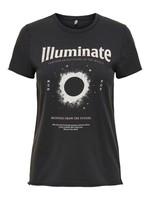ONLY LUCY LIFE REG S/S ASTRO TOP BOX JRS black illuminatie