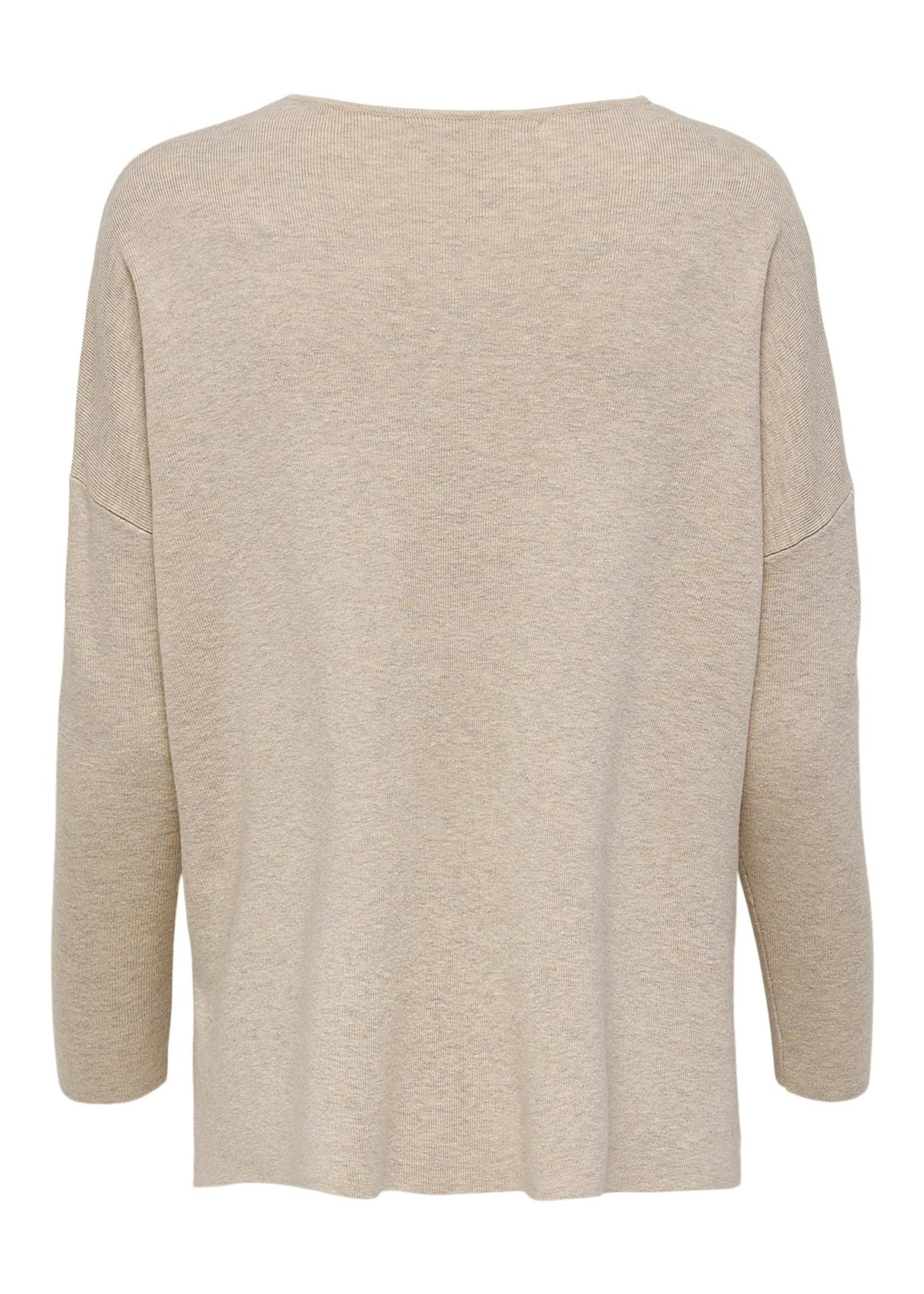 ONLY AUGUSTA L/S V-NECK PULLOVER KNT pumice stone