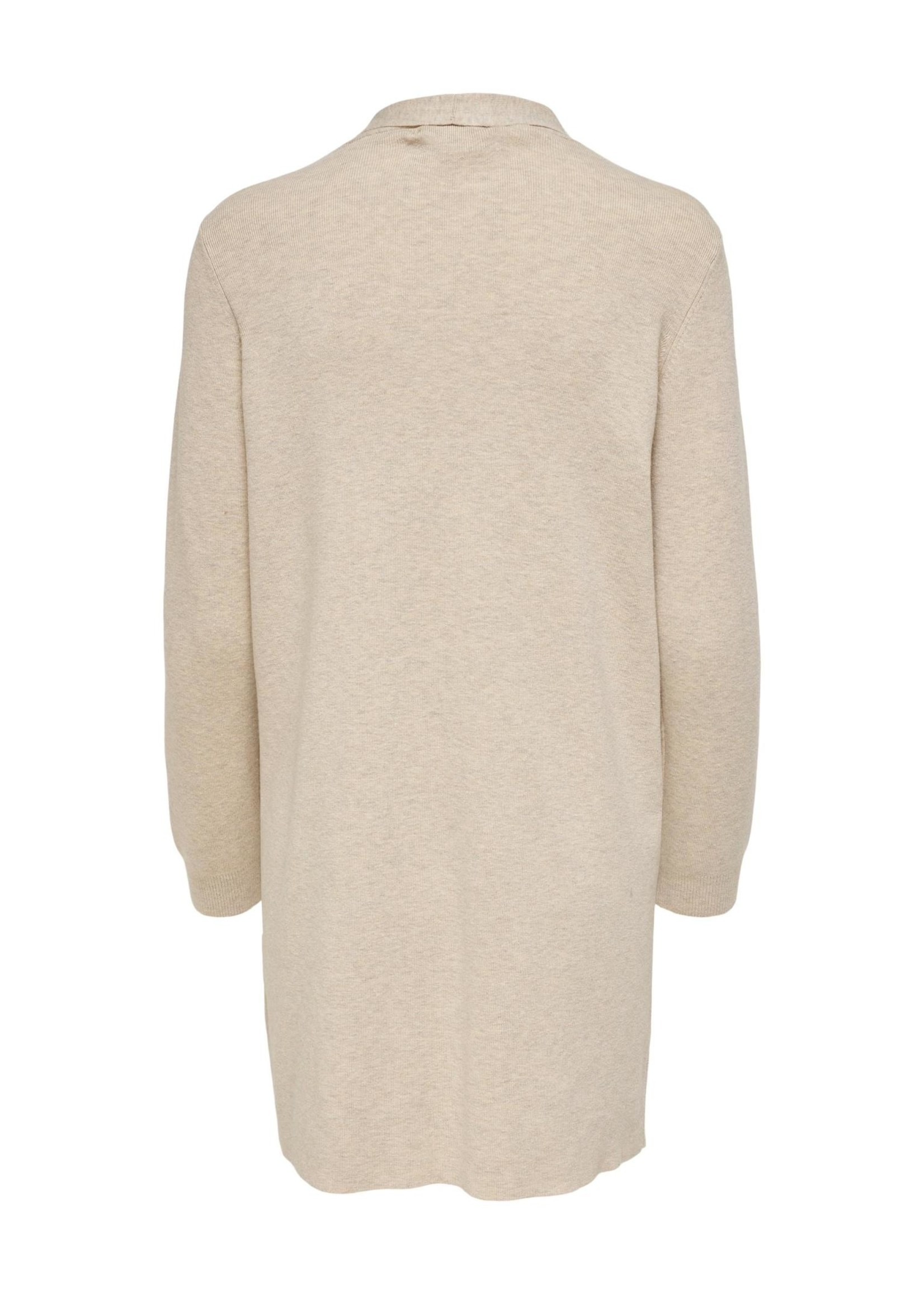 ONLY AUGUSTA L/S OPEN CARDIGAN,pumice stone