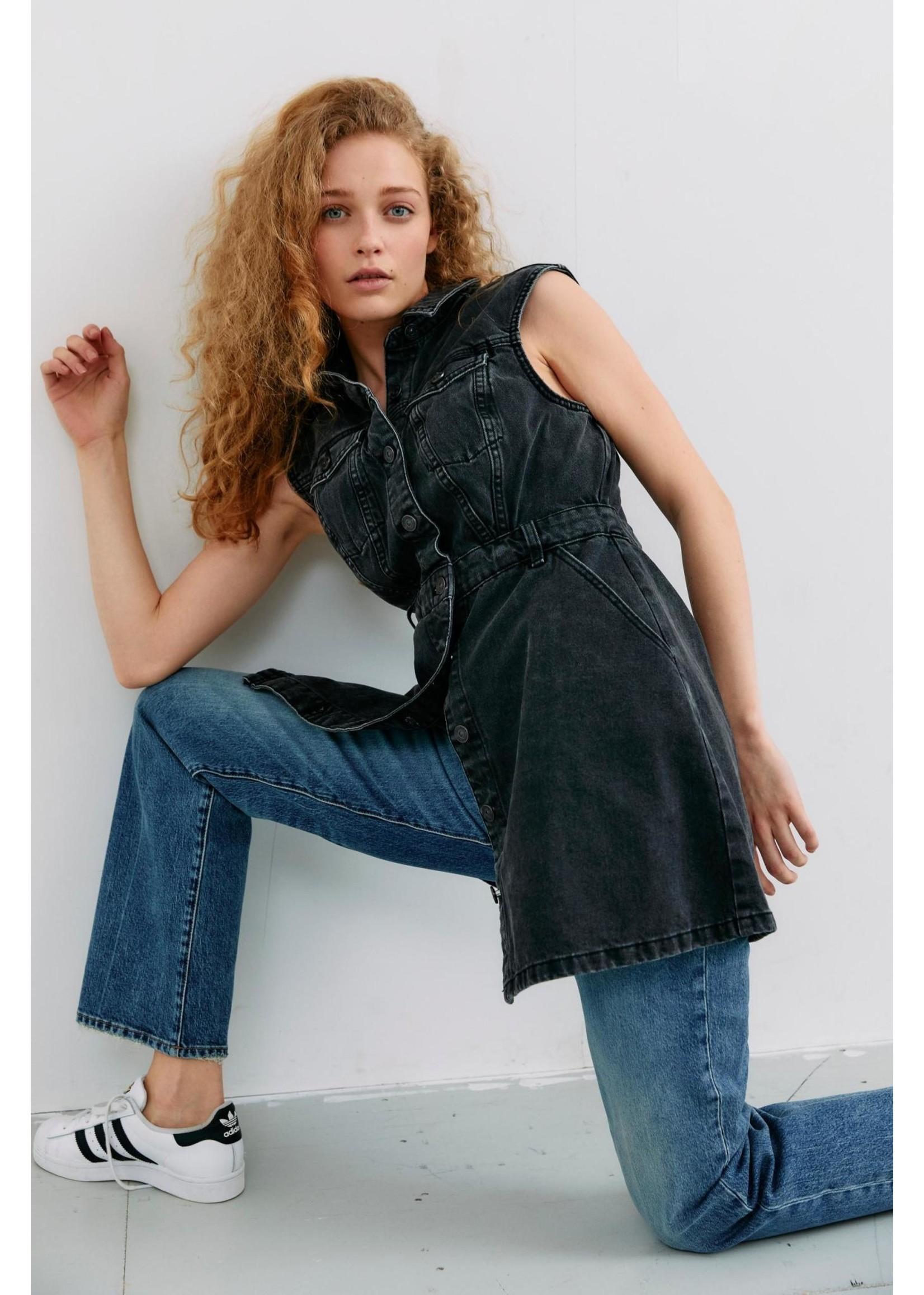 PIECES NAMIR SL SHIRT DRESS BLACK black