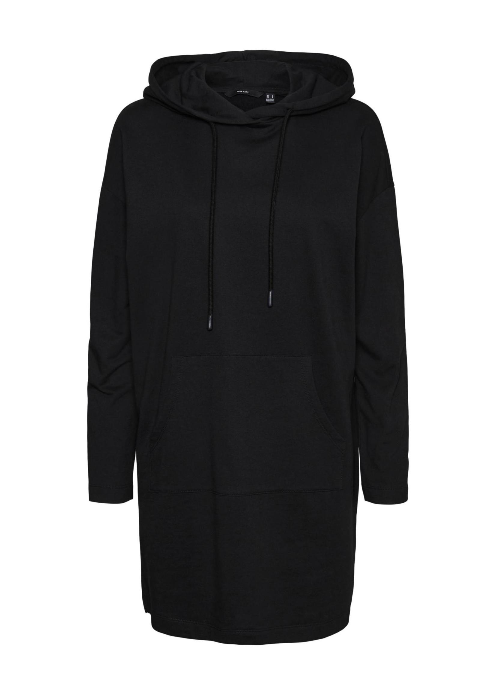 VERO MODA OCTAVIA LS HOODIE DRESS GA NOOS black
