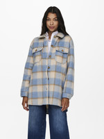 ONLY EPIC L/S CHECK SHACKET,oatmeal/w.toasted