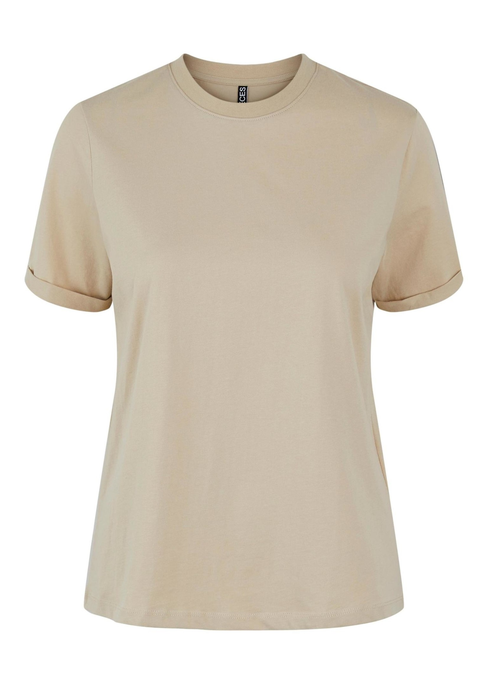 PIECES RIA SS FOLD UP TEE,white pepper