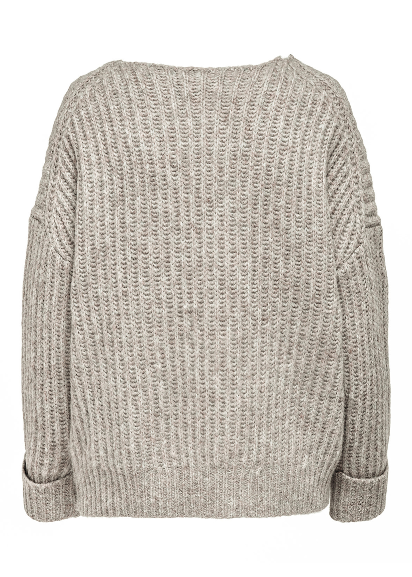 ONLY SCALA L/S V-NECK PULLOVER KNT pumice stone