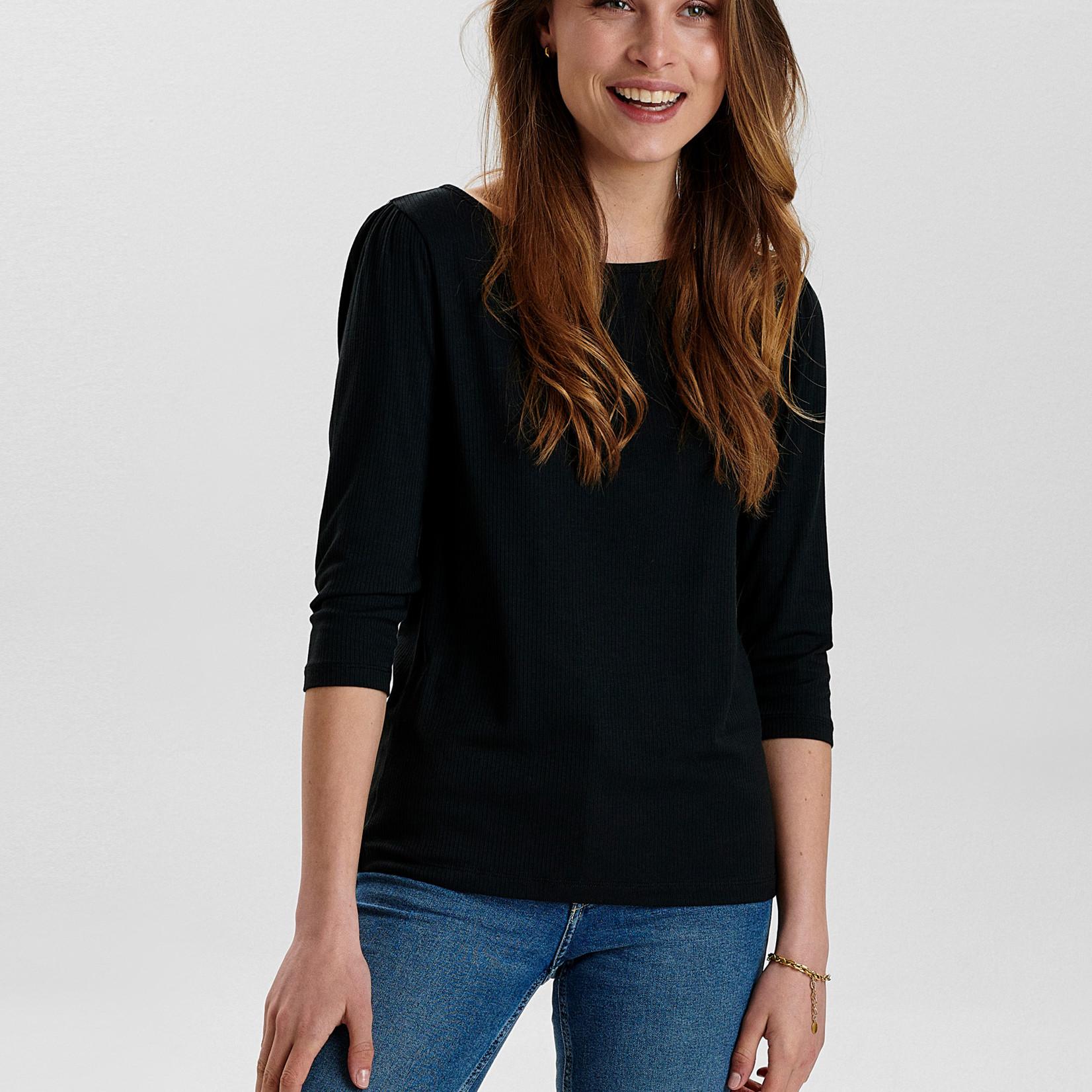 NÜMPH NUDARI T-SHIRT, basic shirt 3/4 mouw