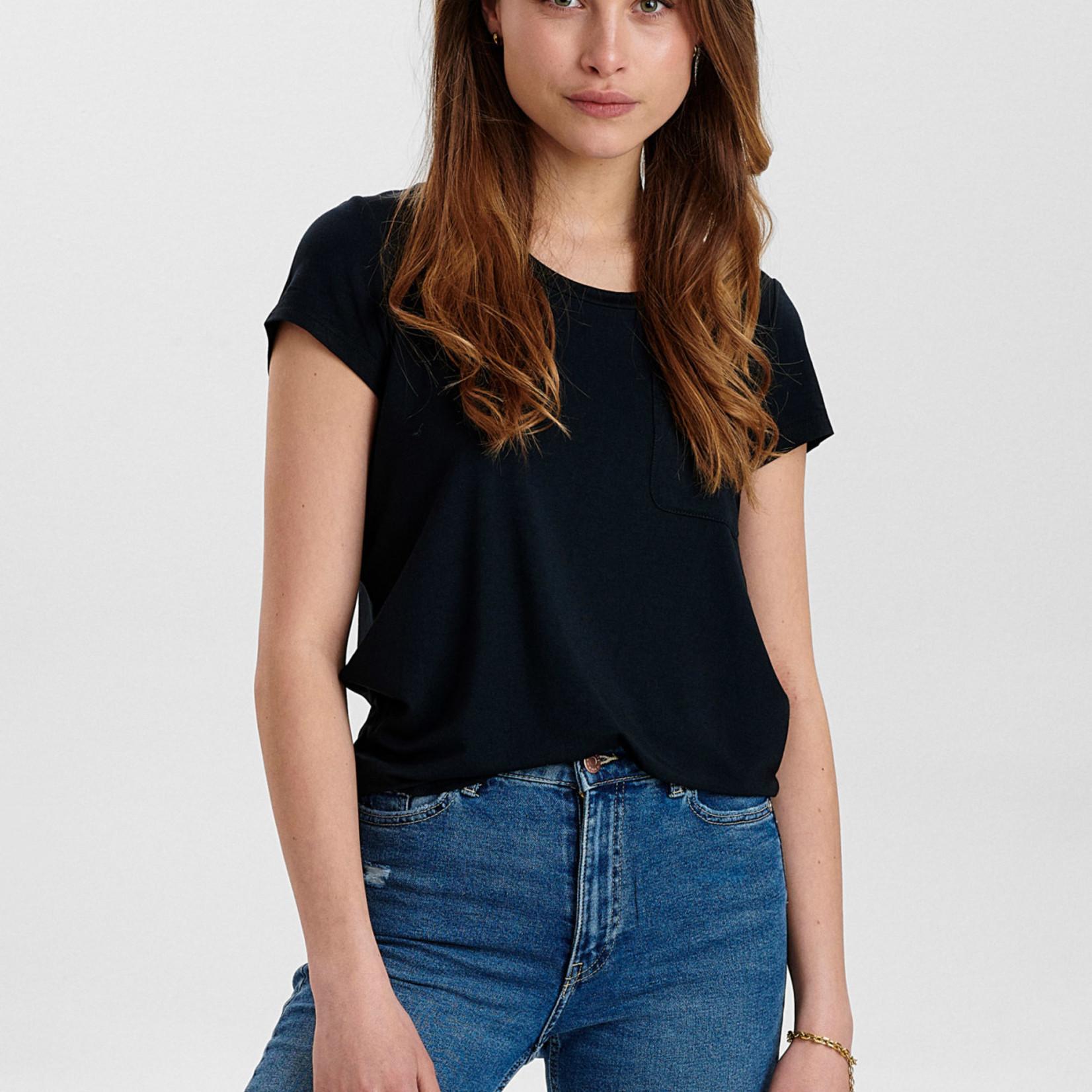 NÜMPH NUBOWIE, t-shirt met borstzakje