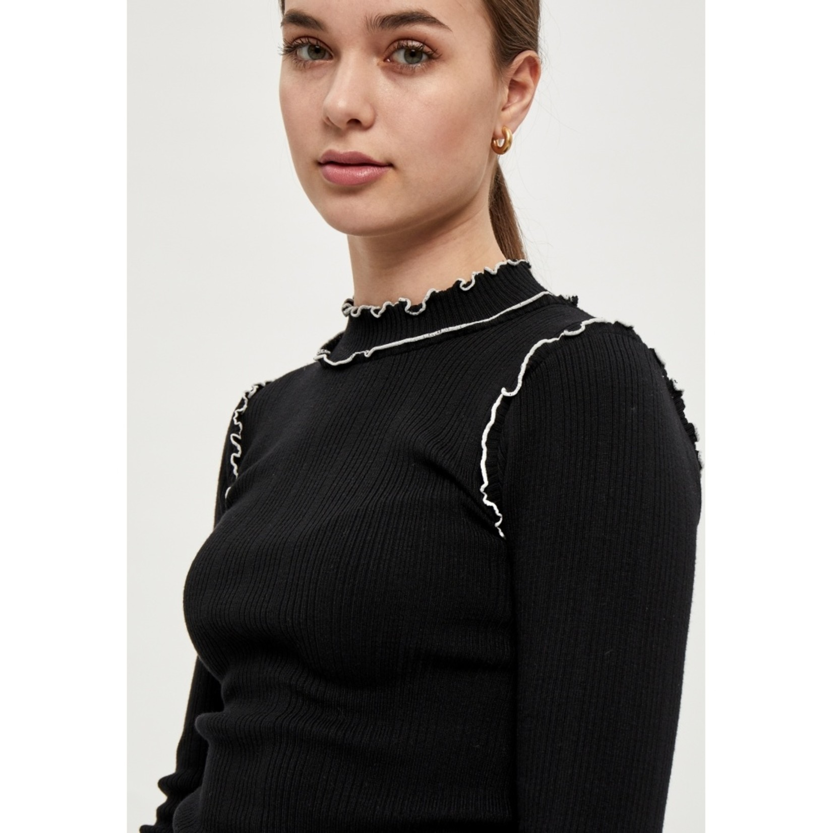 DESIRES GRY PULLOVER,lange mouw
