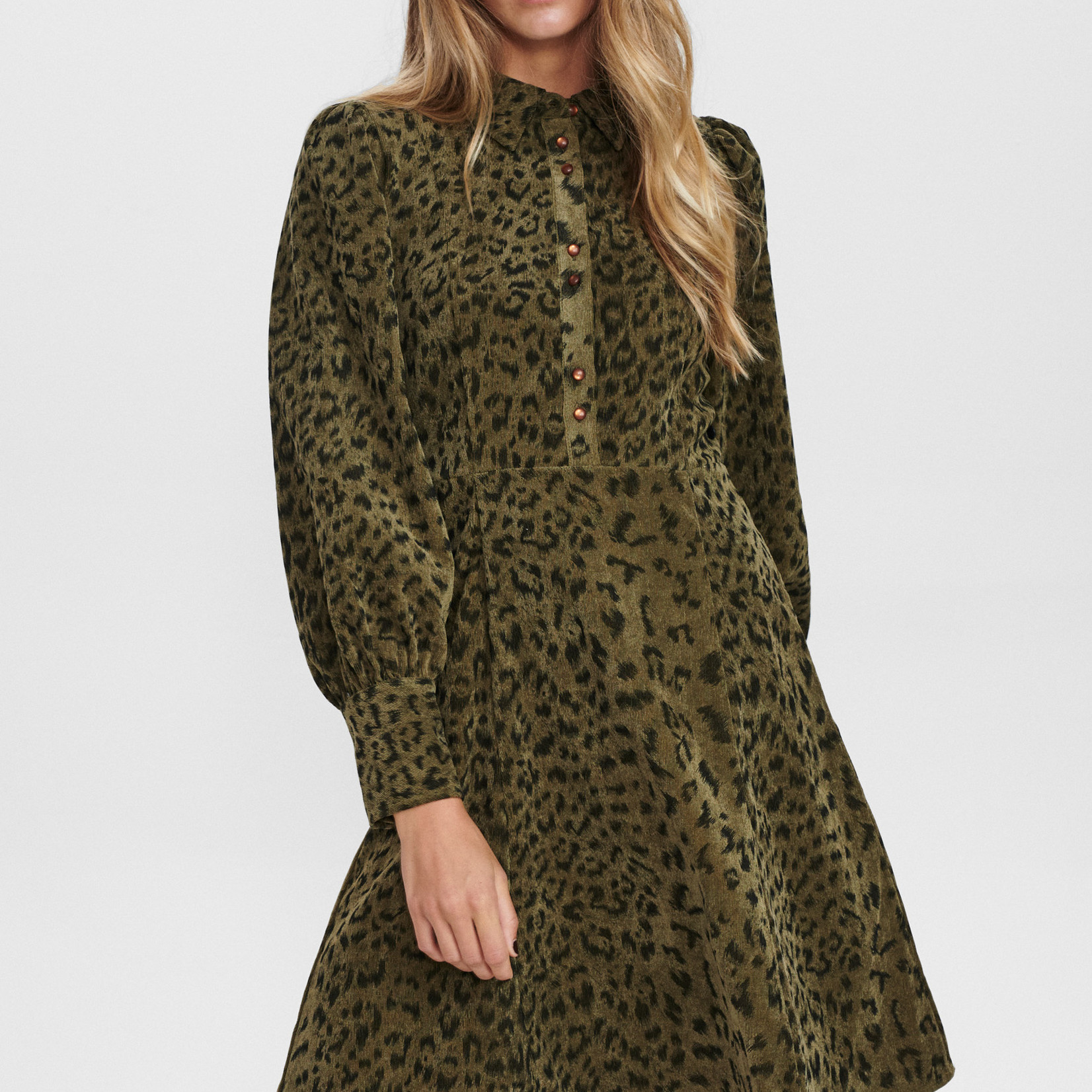 NÜMPH NUCHELSEA DRESS, leopard print jurk