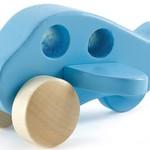 Hape Klein vliegtuig - blauw