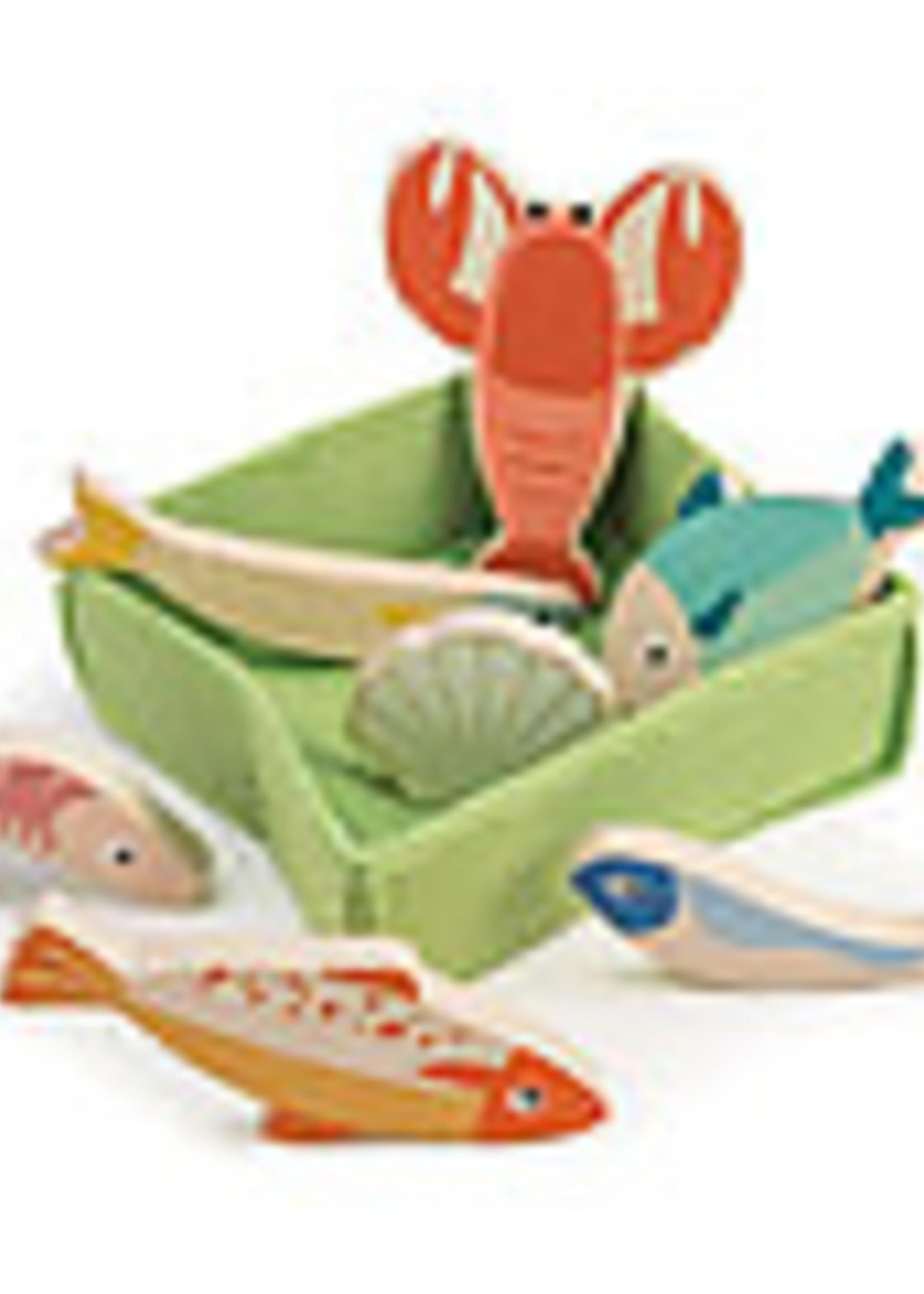 Tender Leaf Toys Mandje met vis