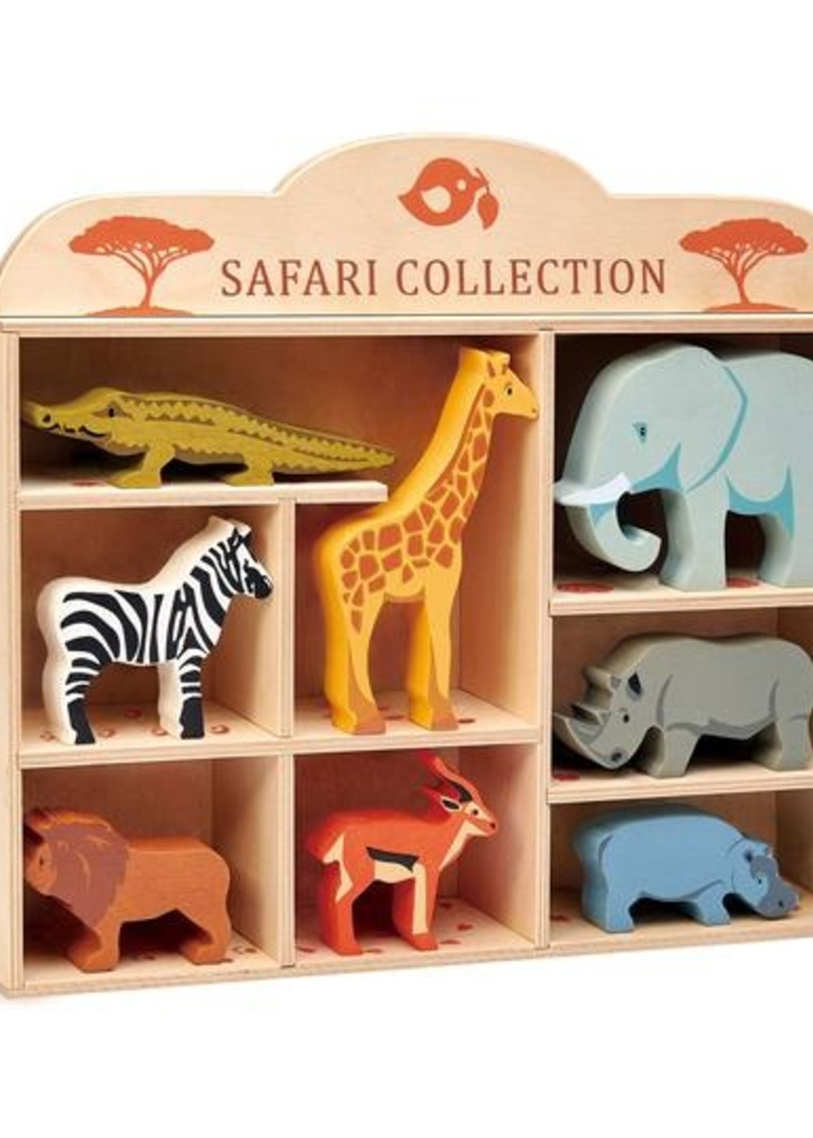Tender Leaf Toys Houten safaridier - Krokodil