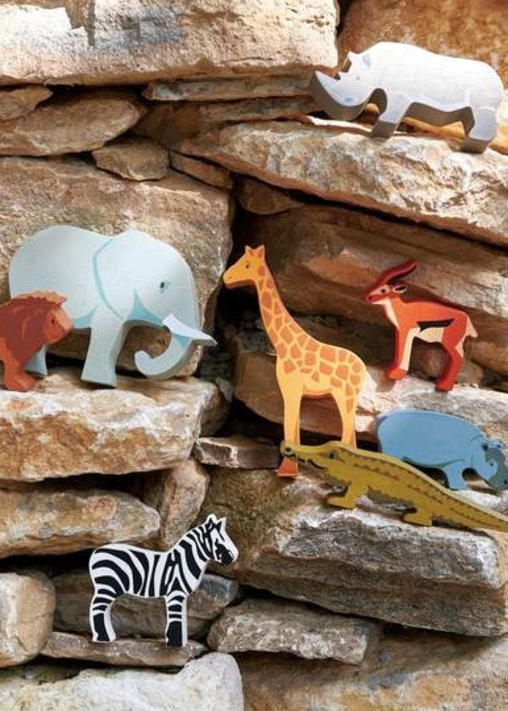 Tender Leaf Toys Houten safaridier - Olifant