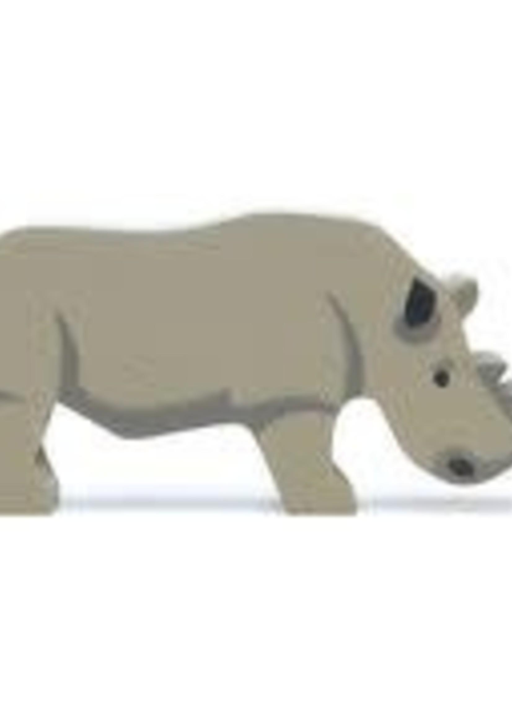 Tender Leaf Toys Houten safaridier - Neushoorn