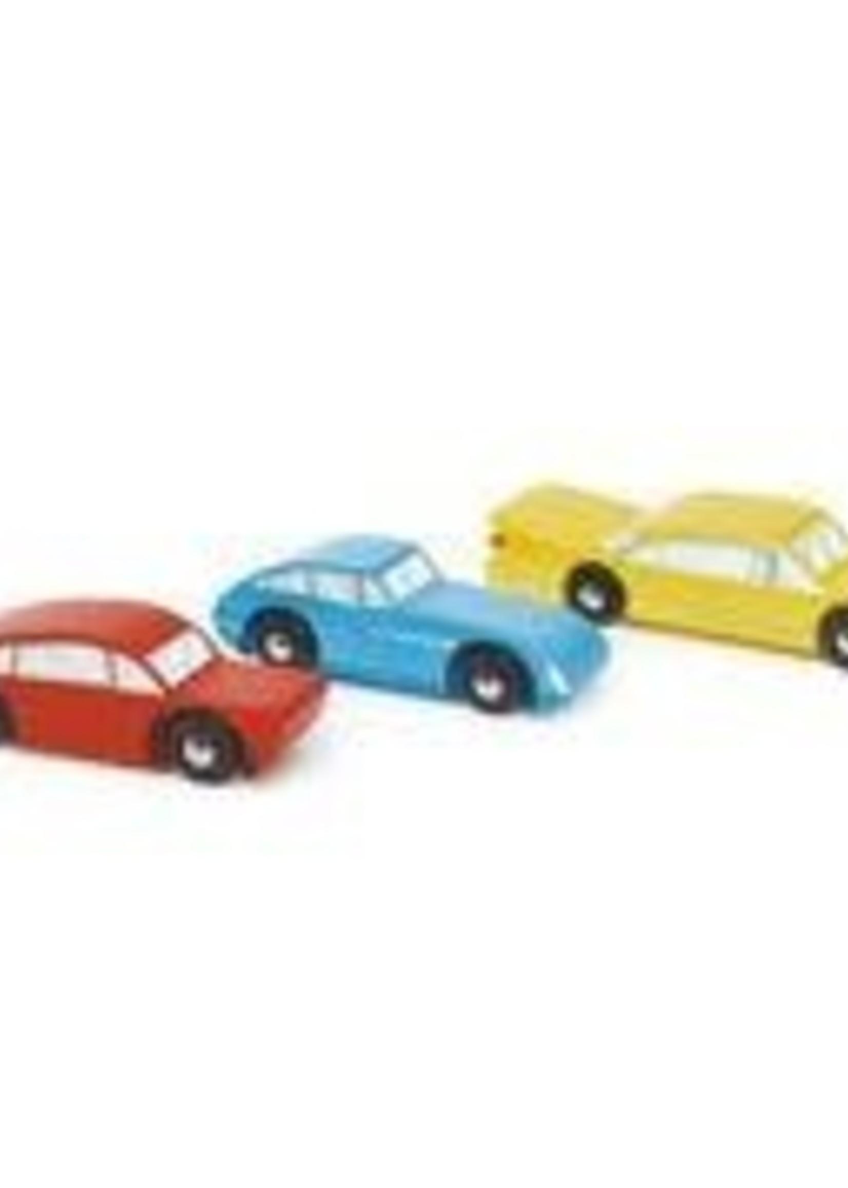 Tender Leaf Toys Set houten auto's - Retro