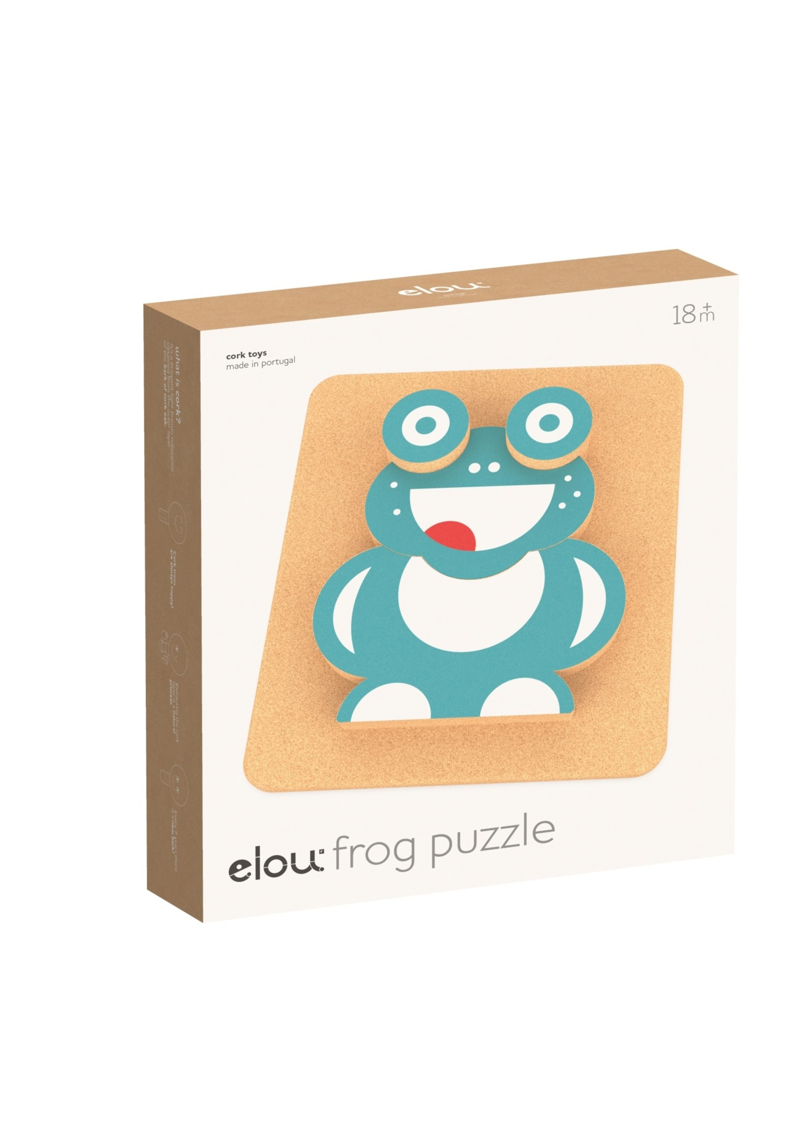 Elou Cork Toys 3D puzzel - Kikker