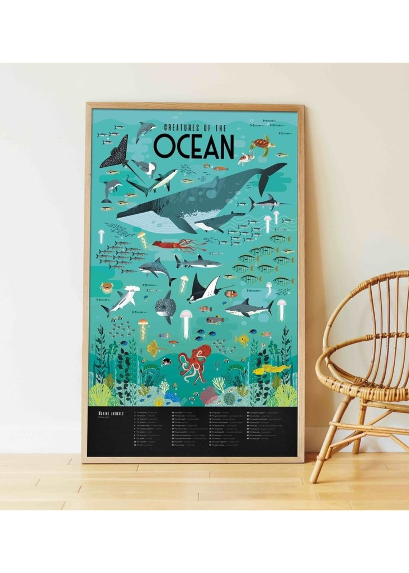 Poppik Stickerposter - Oceanen