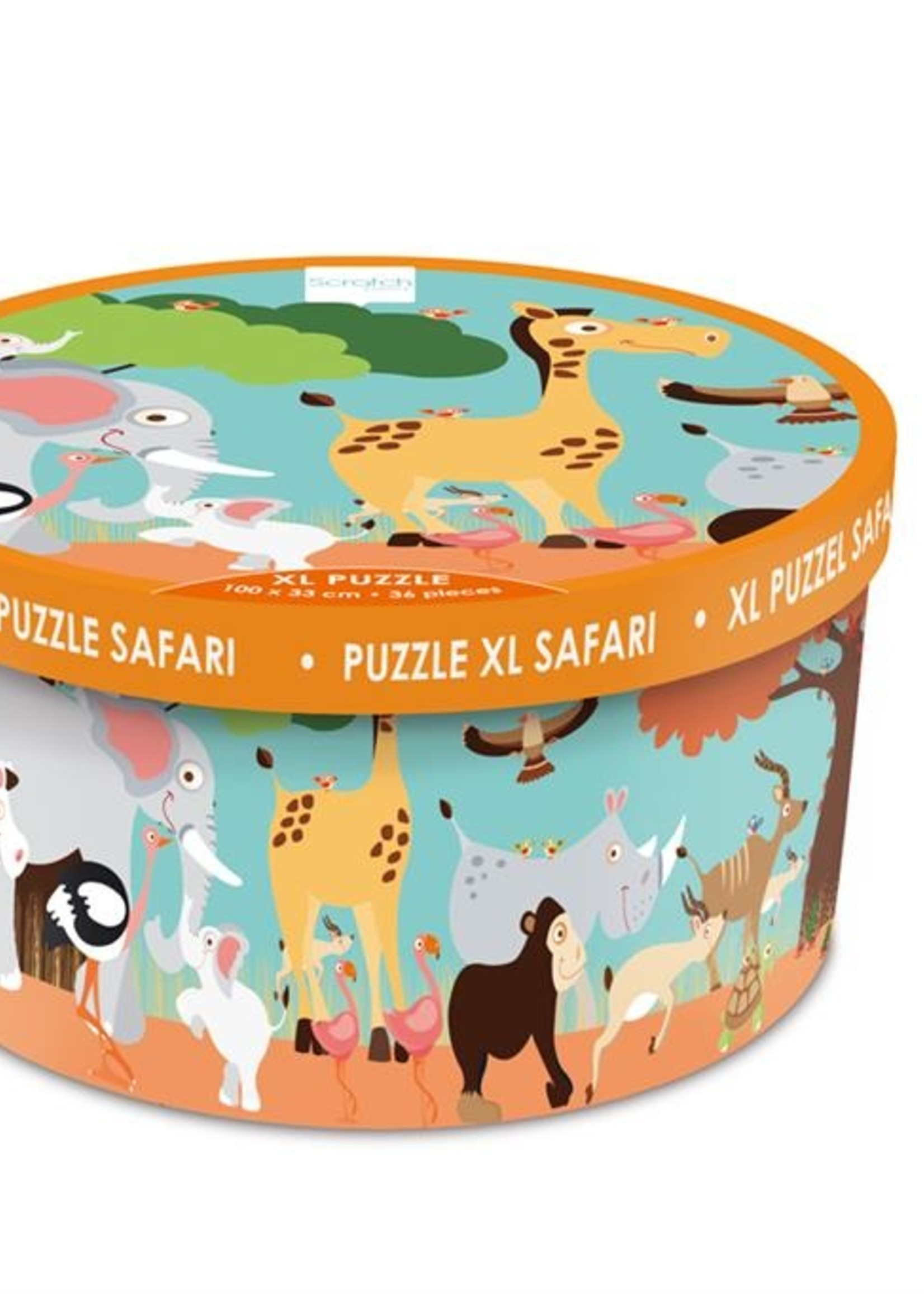 Scratch Vloerpuzzel safari