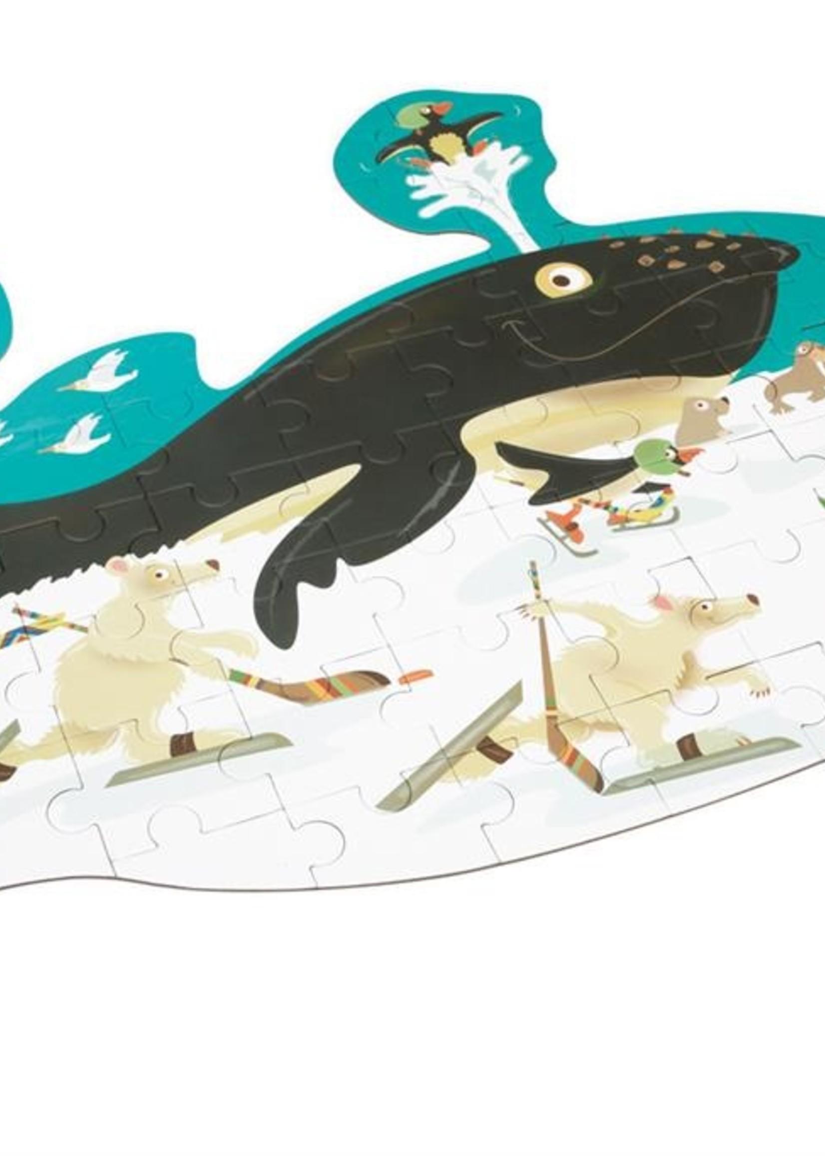 Scratch Contourpuzzel walvissen