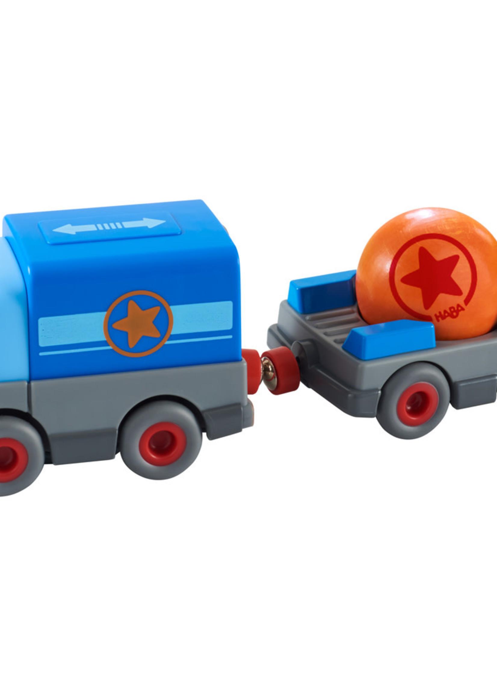 HABA Vrachtwagen met aanhangwagen