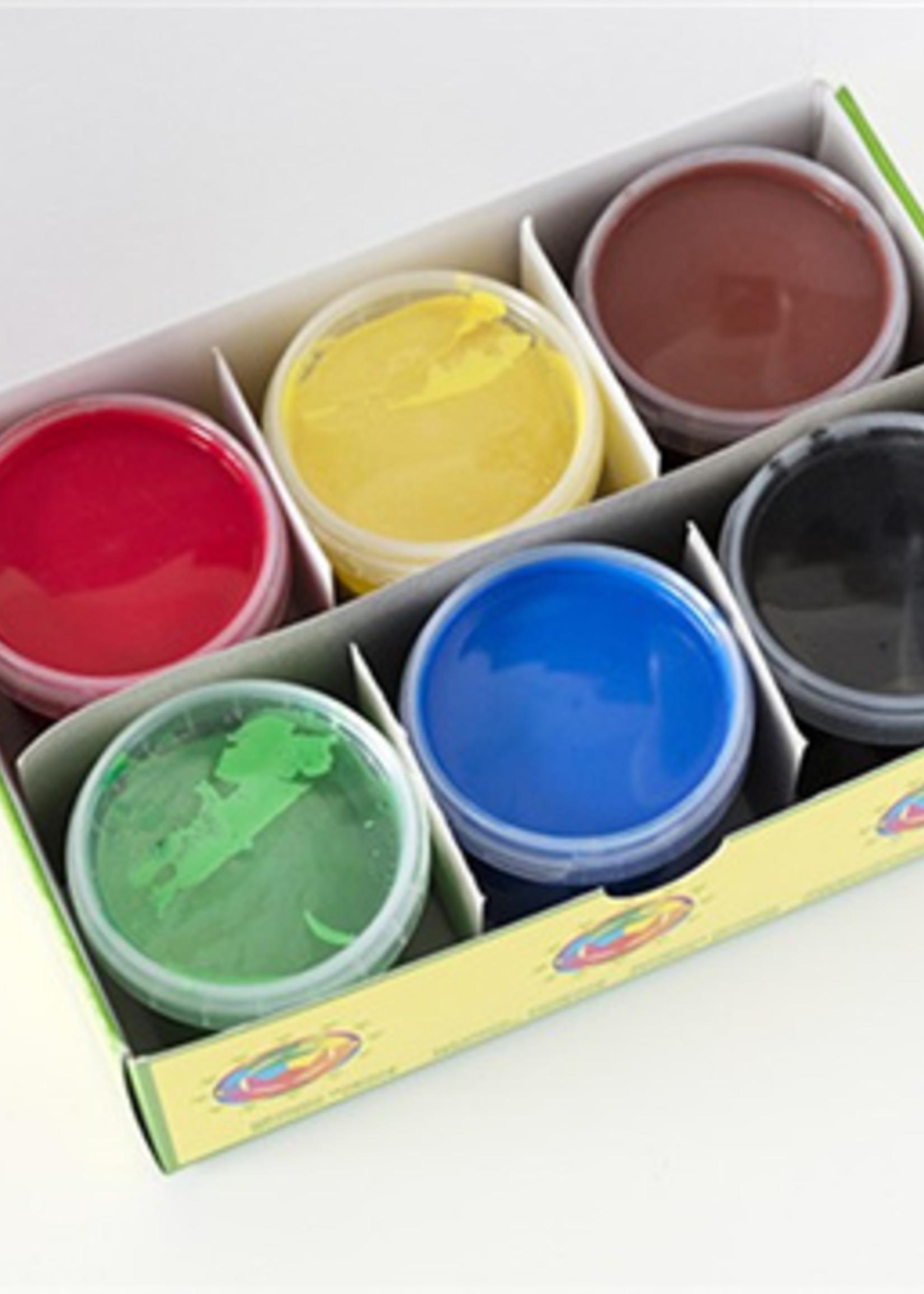Oekonorm Vingerverf - Classic (geel, groen, rood, blauw, bruin, zwart)
