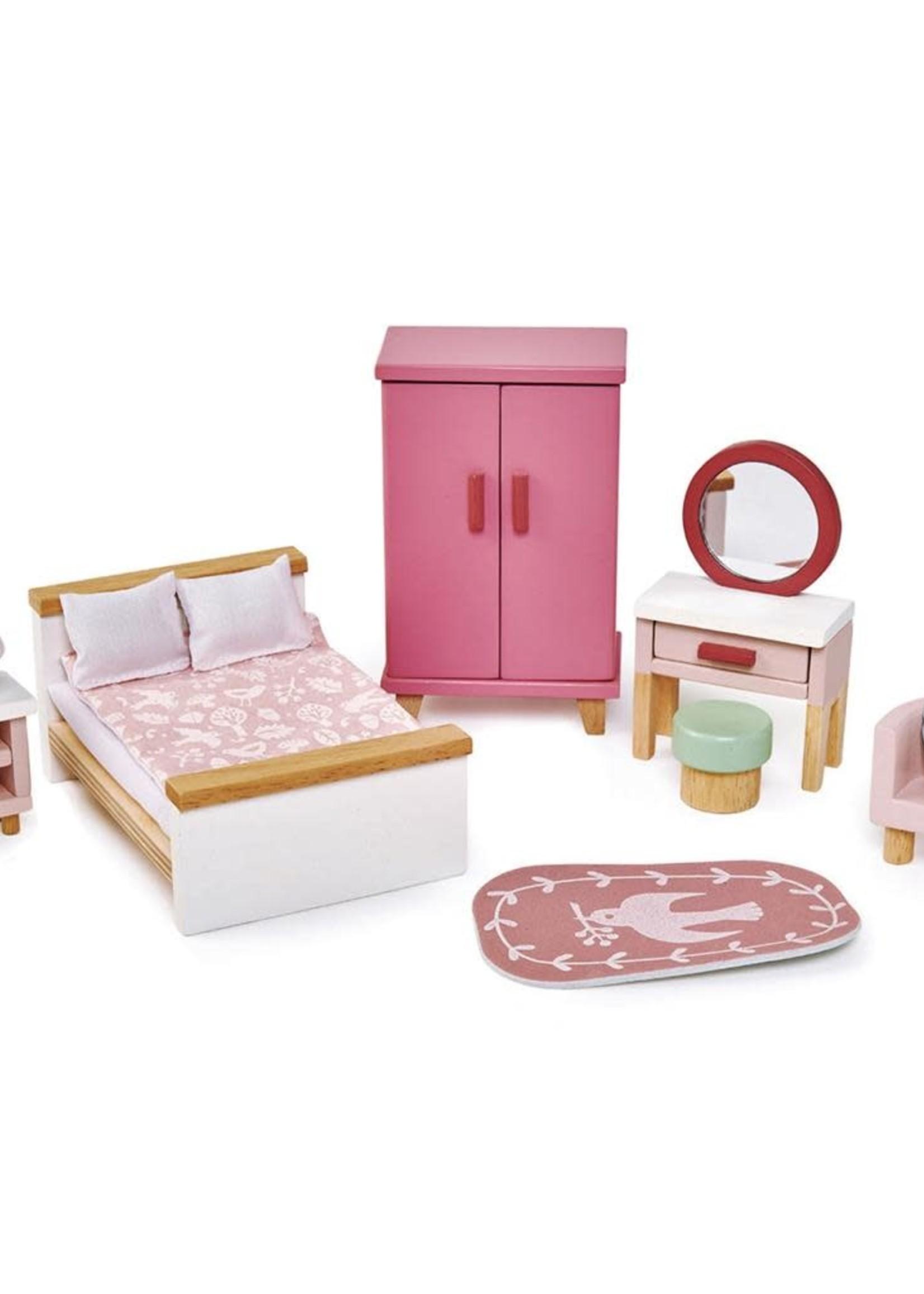 Tender Leaf Toys Poppenhuis slaapkamer