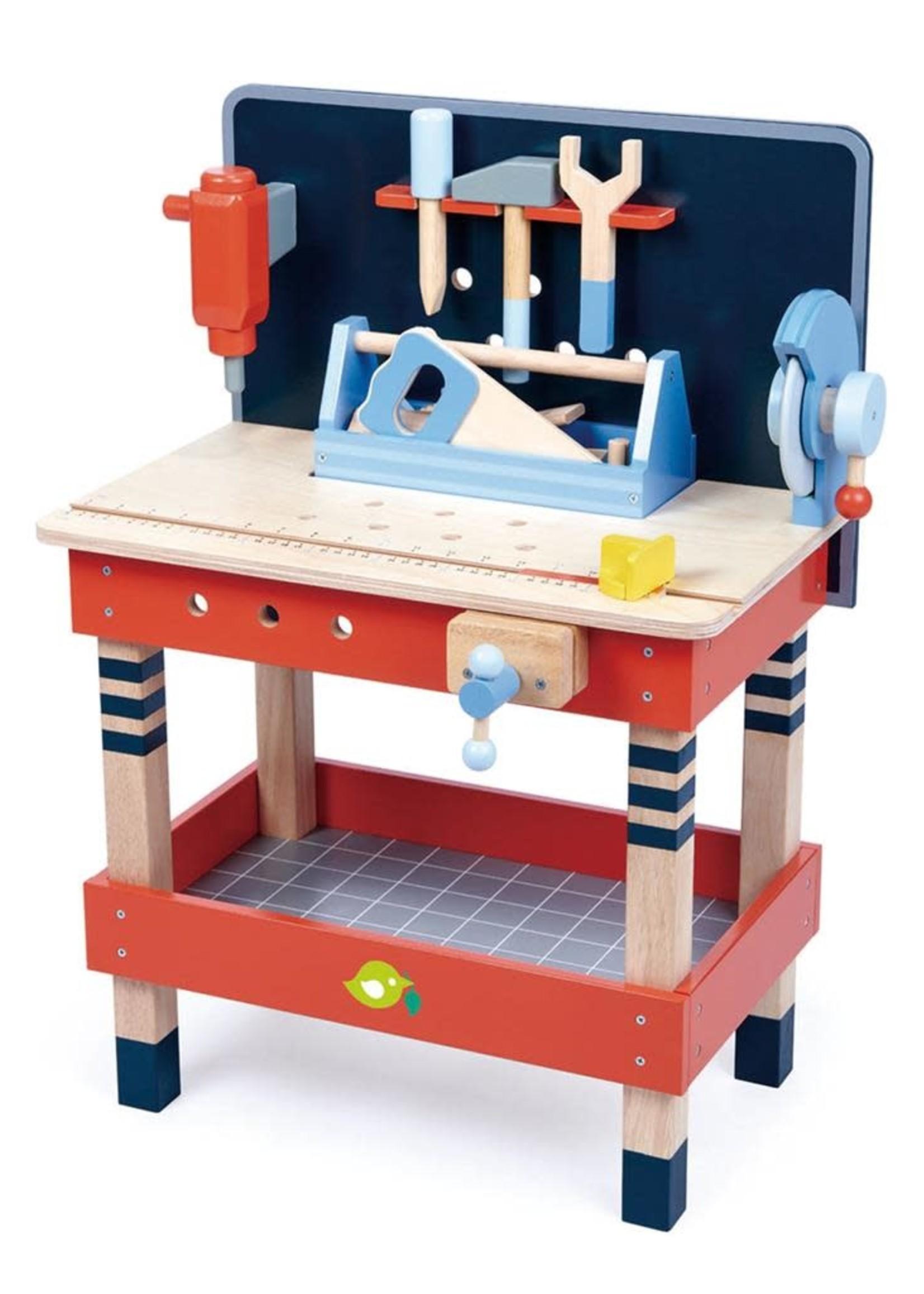 Tender Leaf Toys Werkbank met benodigdheden