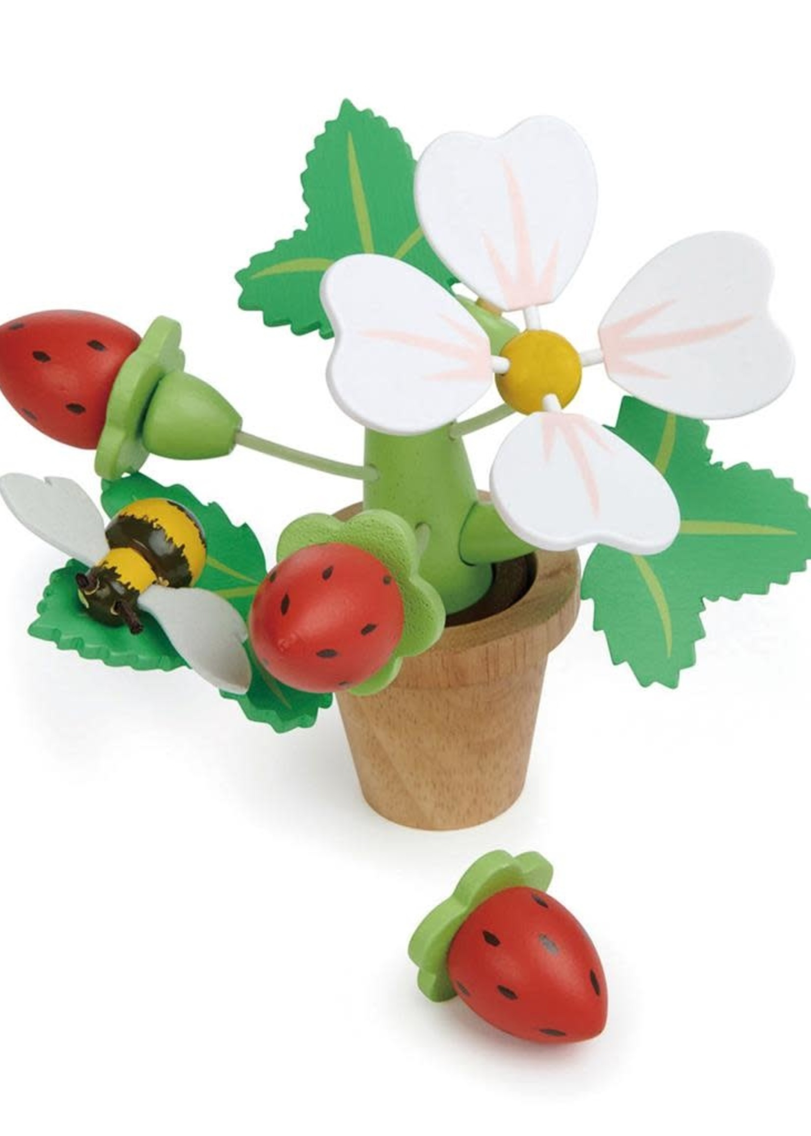 Tender Leaf Toys Bloempot aardbeien