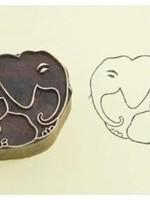 Blockwallah Blokstempel - Familie olifant